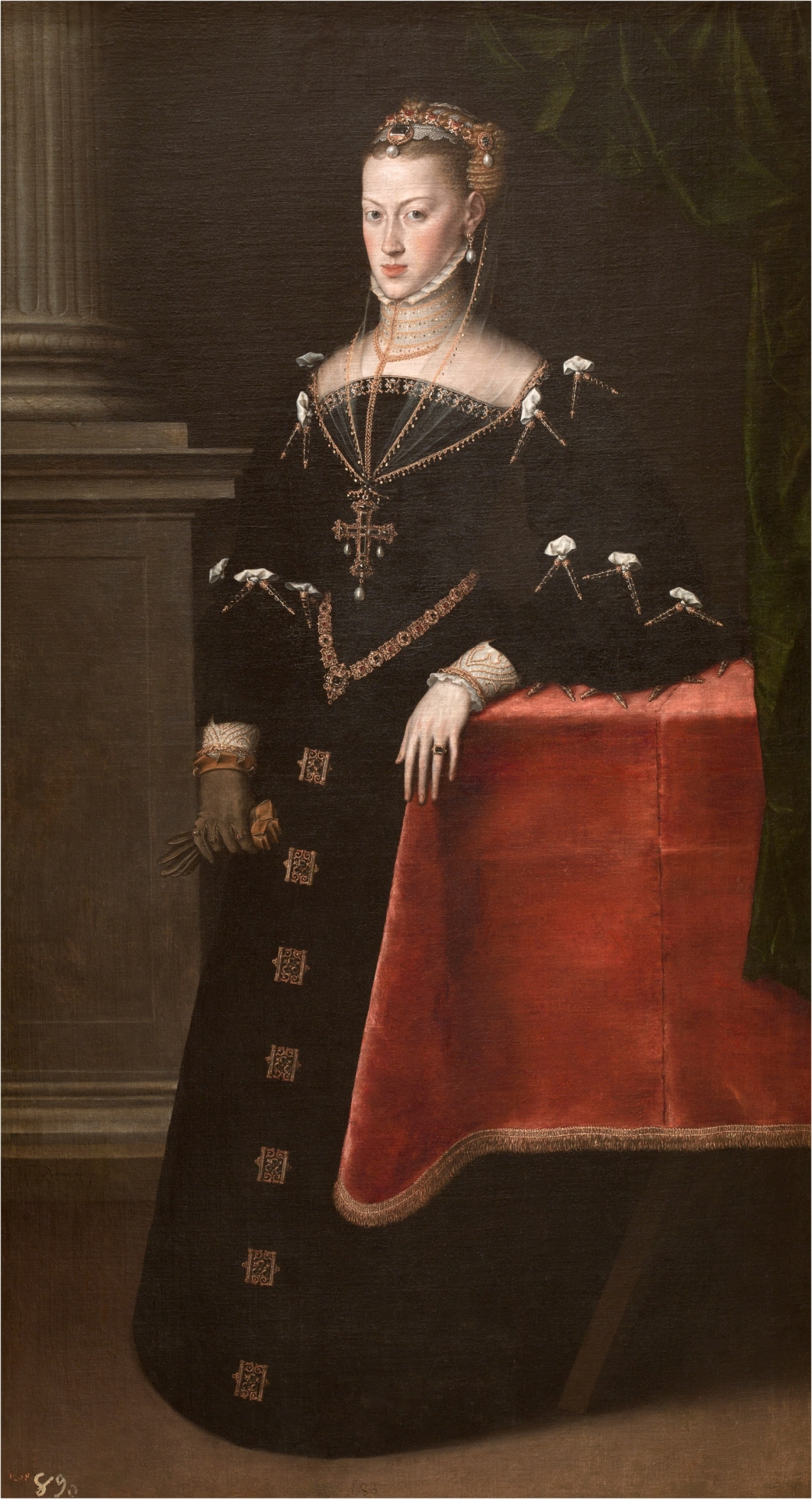 Emperess María de Austria, wife of Maximilian II, oil on canvas, Antionio Moro, 1551. (Image courtesy of the Prado Museum