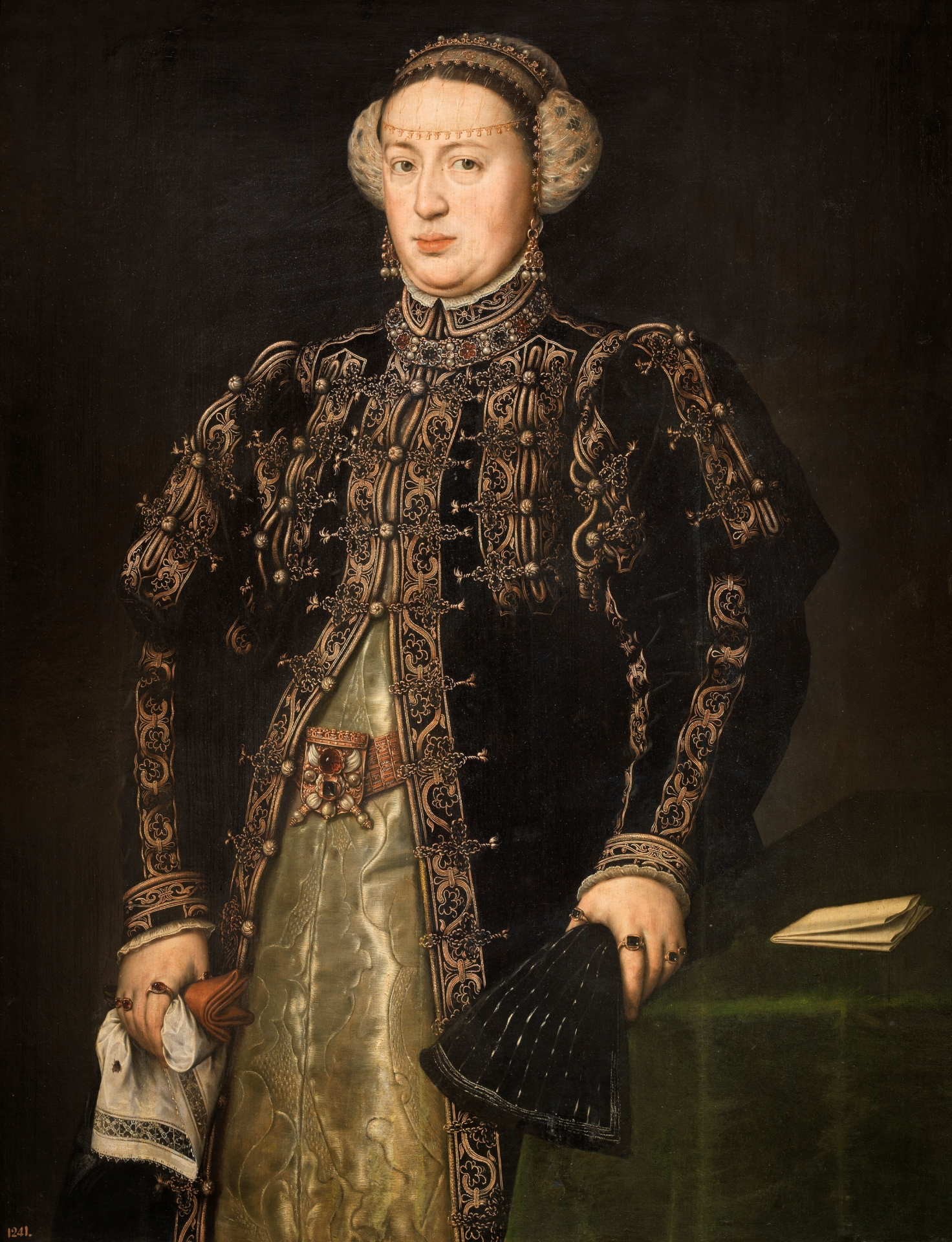 Doña Catalina de Austria, wife of Juan III of Portugal, oil on canvas, Antonio Moro 1552-53. (Image courtesy of the Prado Museum)