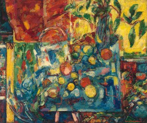 Apples, c. 1934, oil on canvas , Hans Hoffman (Image courtesy of the Whitney Museum of American Art). Clearly a debt to Cézanne.