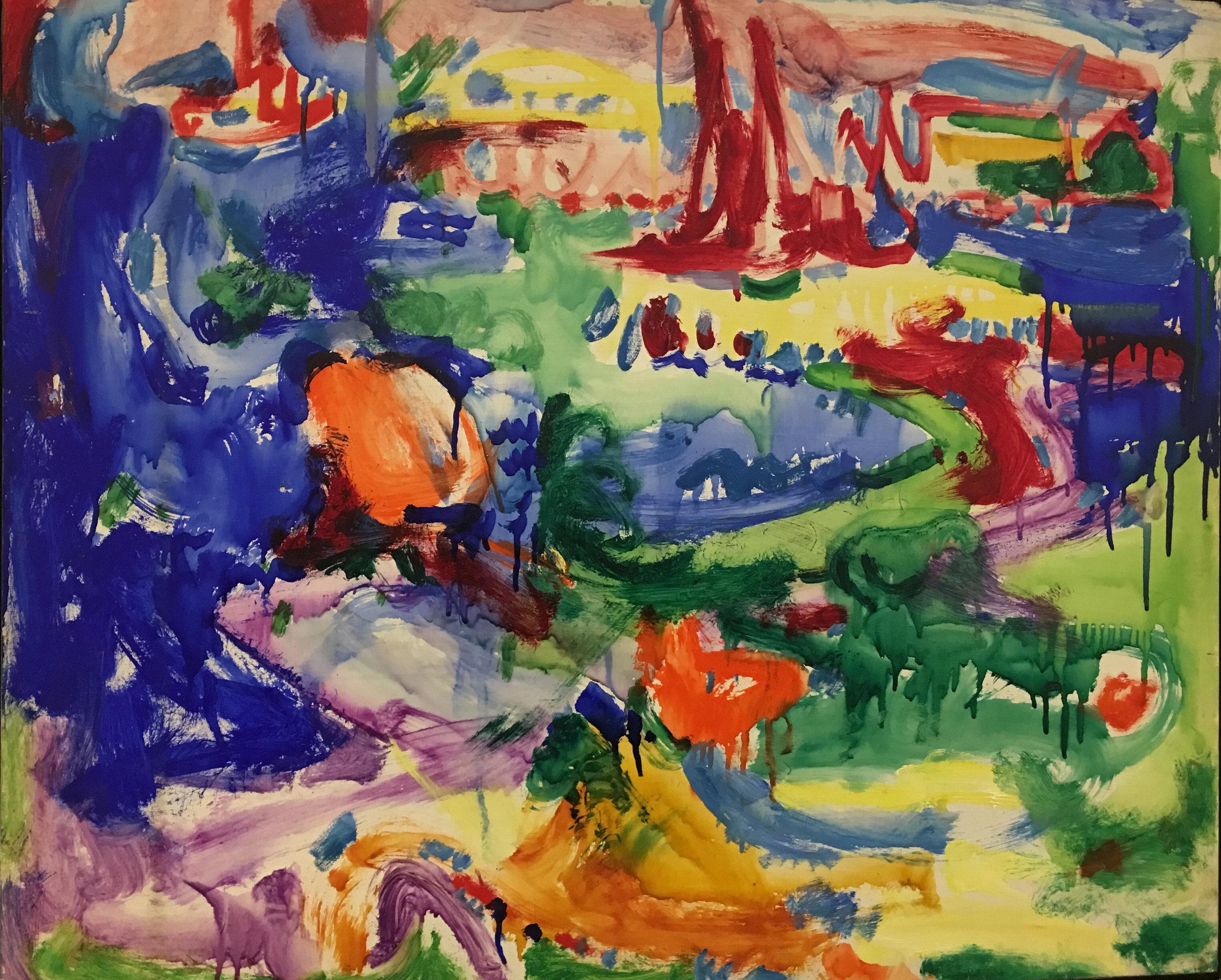 Landscape no.83, c. 1935, casein on panel, Hans Hoffman (photograph J. Cook)