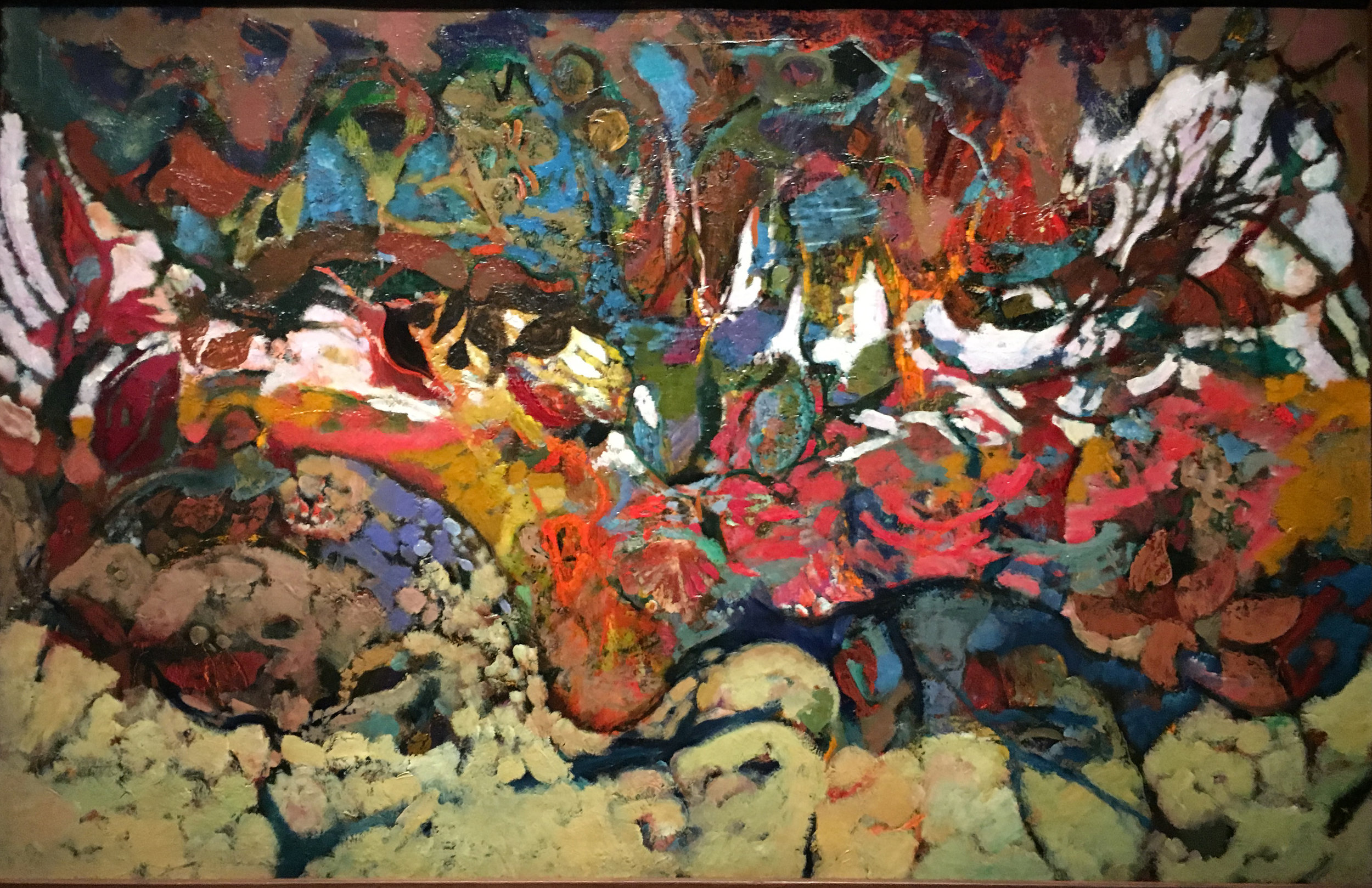 Rocks and Autumn Leaves, 1949-51, oil on canvas, Hyman Bloom (Photograph J.Cook)