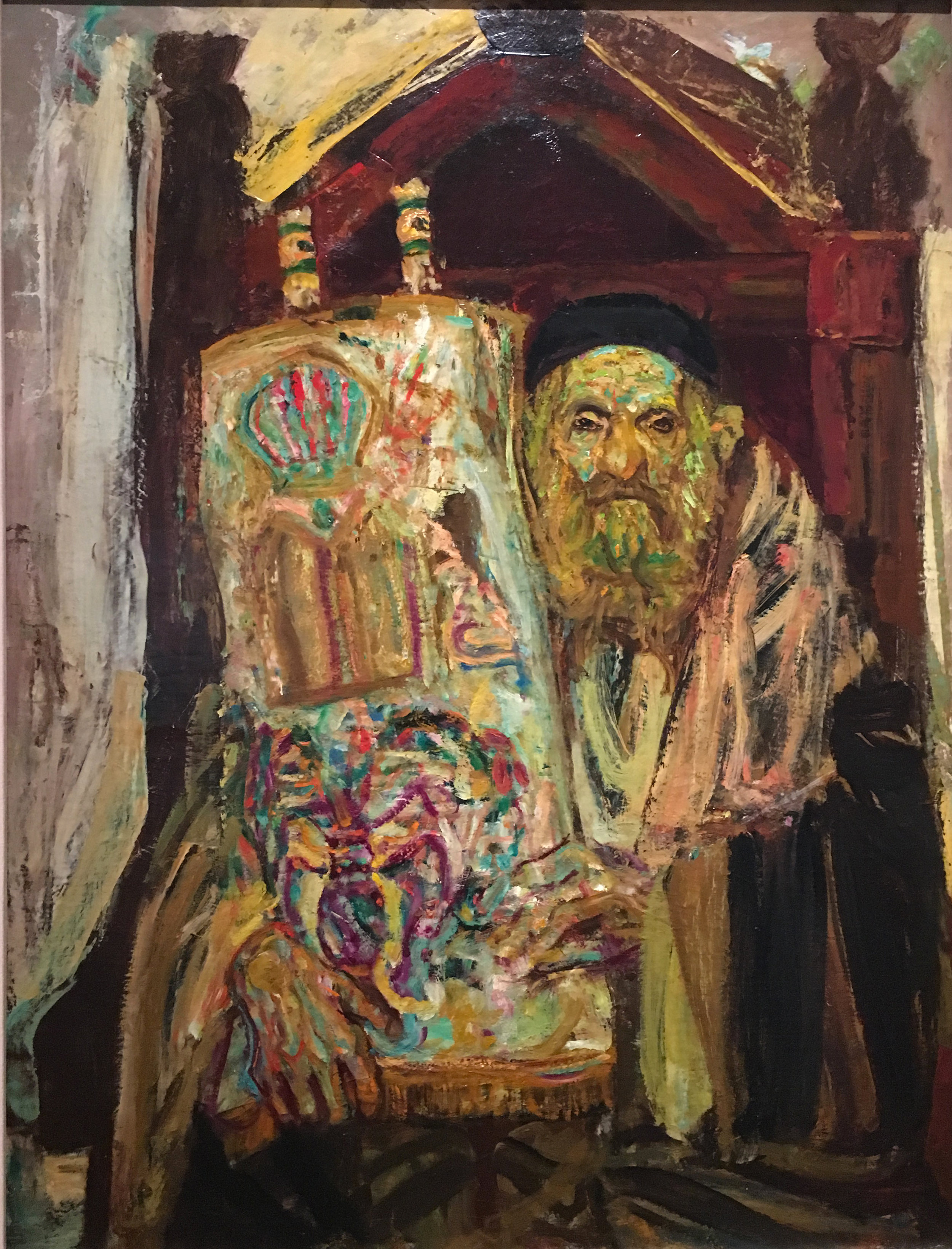 Older Jew with Torah, 1945, oil on canvas, Hyman Bloom (Photograph J.Cook)