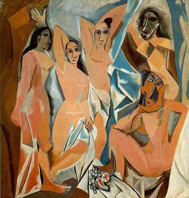 Les Demoiselles d'Avignon, oil on canvas, 1907, Pablo Picasso, Museum of Modern Art, New York