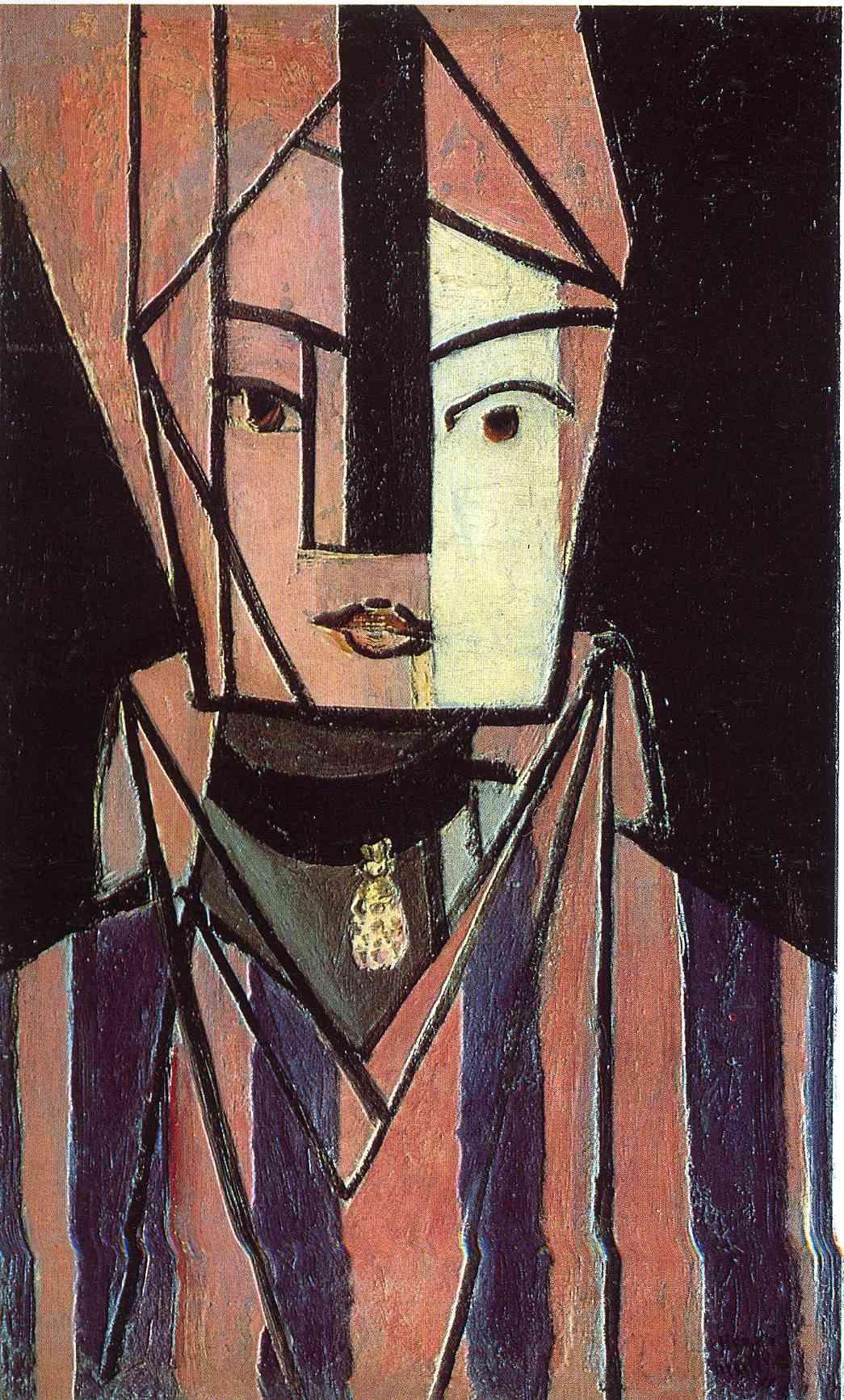 Head white and pink, 1914, oil/canvas, Musée National d'Art Moderne, Centre Georges Pompidou, Paris, France