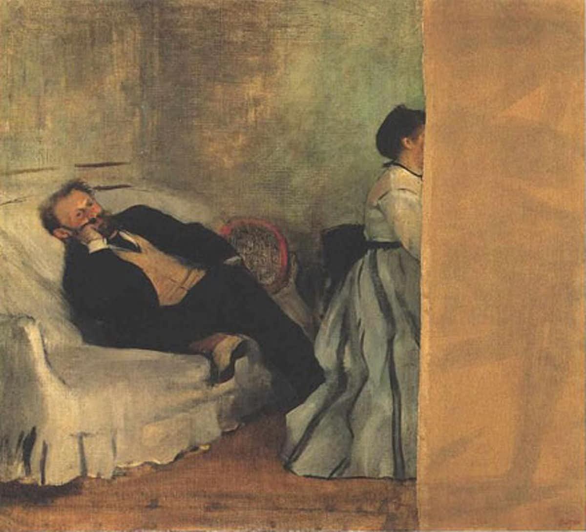 Edouard Manet and Madame Manet, oil on canvas, 1868-69, Edgar Degas, Kitakyushu Municipal Museum of Art (Japan - Kitakyushu)