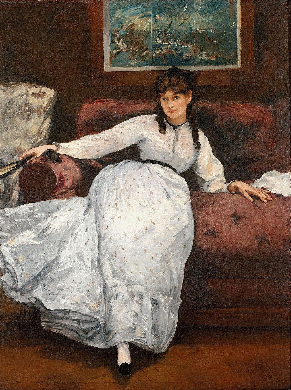 Le Repos, 18709-71, oil on canvas, Edouard Manet, Museum of Art, Rhode Island School of Design