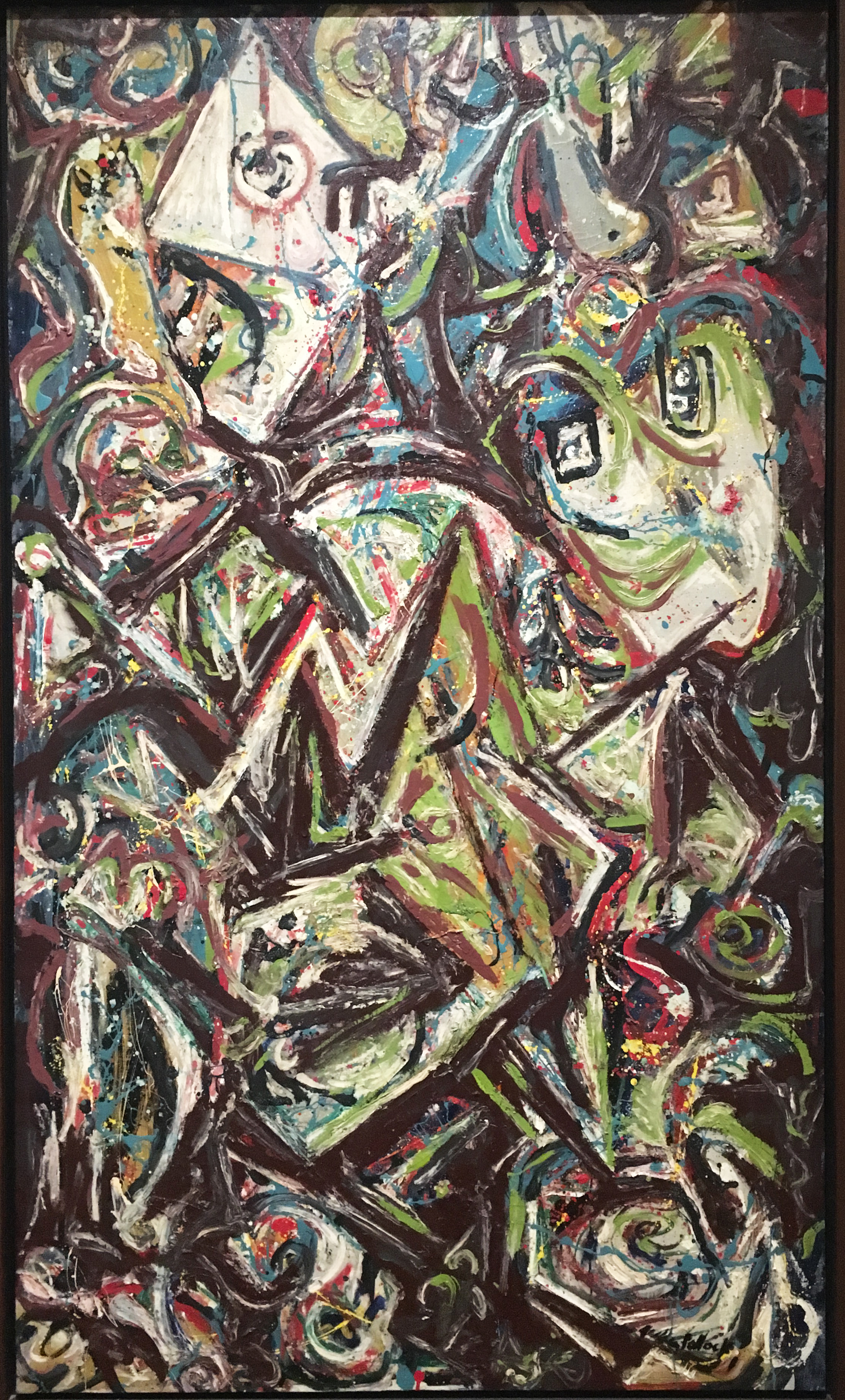 Troubled Queen, 1945, oil and alkyd on canvas , Jackson Pollock, Fine Arts Museum, Boston (photograph J. Cook)