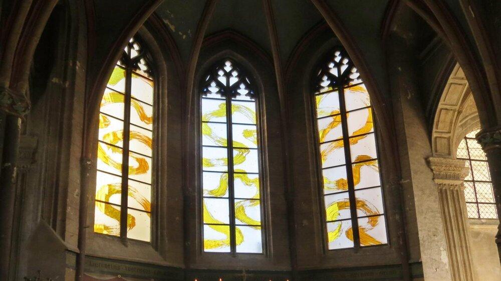 Stained glass windows, Fabienne Verdiere, Saint-Laurent Church, Nogent-sur-Seine, France