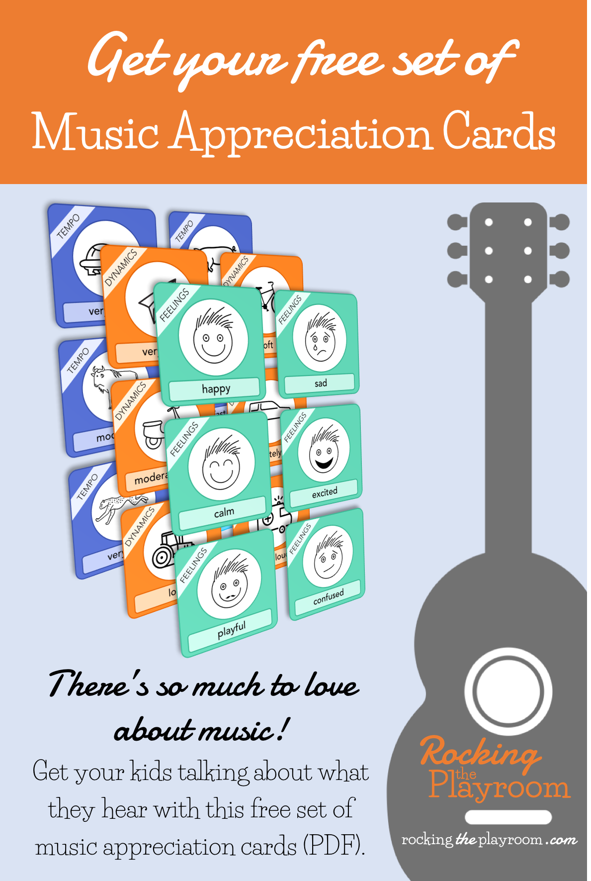 Music Appreciation Cards for Kids from Rocking the Playroom
