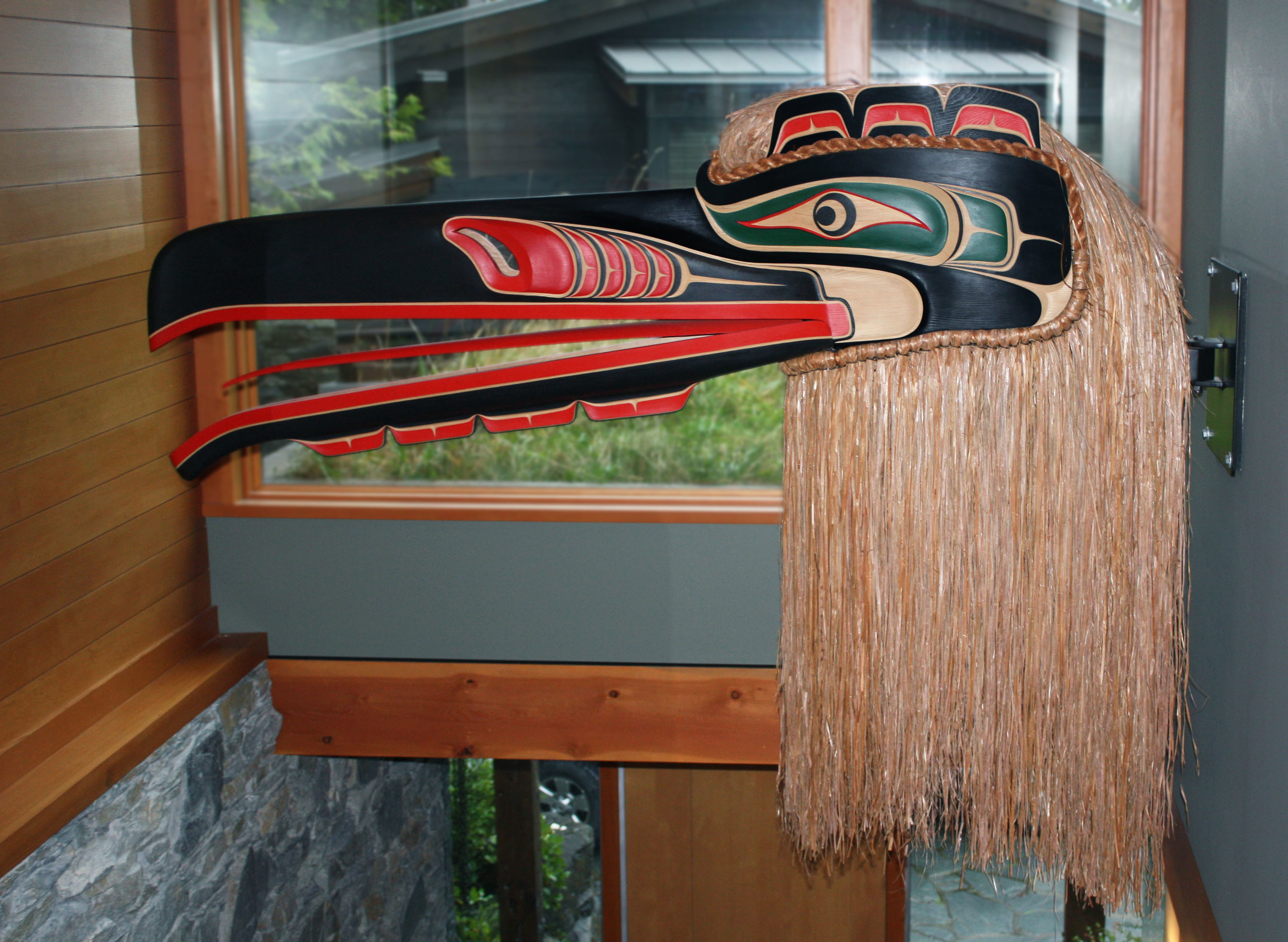 7 FOOT RAVEN HEADDRESS