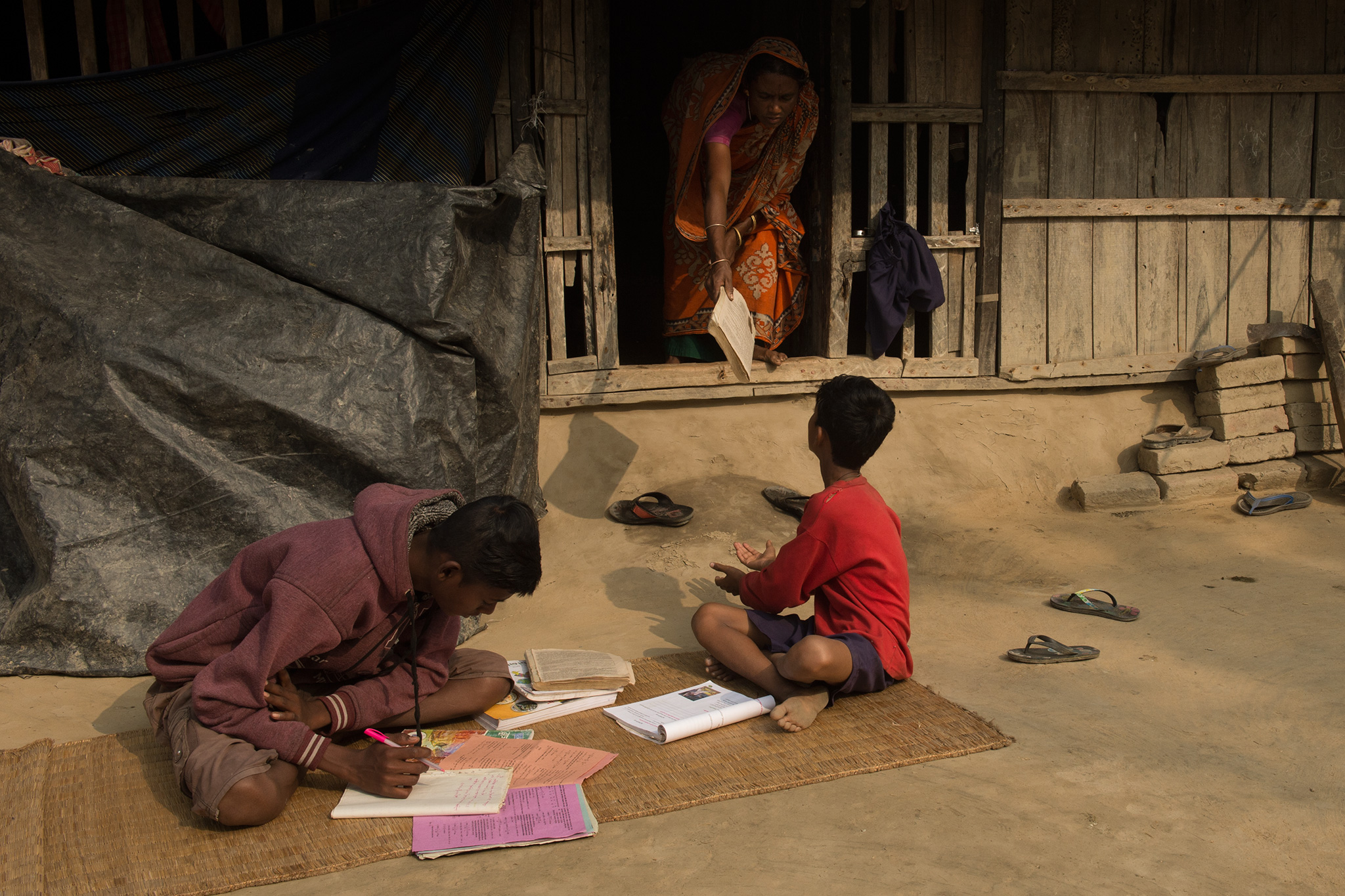 she is doing everything for the kids to be educated. but seeing his mother struggle, Bappa, the older boy, wants to go off to find work in a far away city after his 10th. He wants to help ease her workload.
