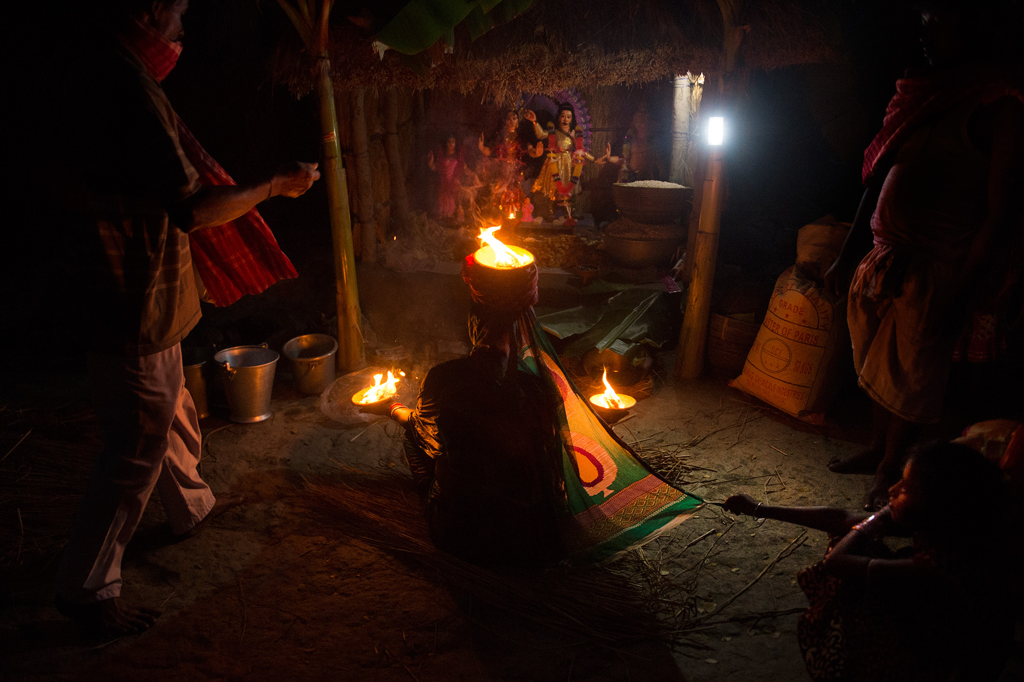 This is a deity -- Bonbibi -- that the fishers pray to before entering the forest. She protects them from the tigers. Kabita used to pray regularly to Bonbibi, but does not anymore.