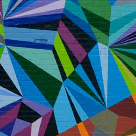 IMAGE CREDIT: XYZ Axis. Cincinnati, Ohio (2011) , by Matt W. Moore. [ http://mwmgraphics.com/murals_diamonds.html ]
