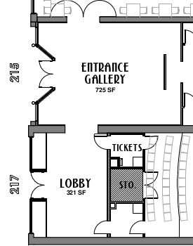 Basic Lobbies Floorplan (left are front/Broad St. entrances)