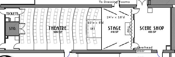 Basic Theatre Floorplan (left is toward Broad Street)