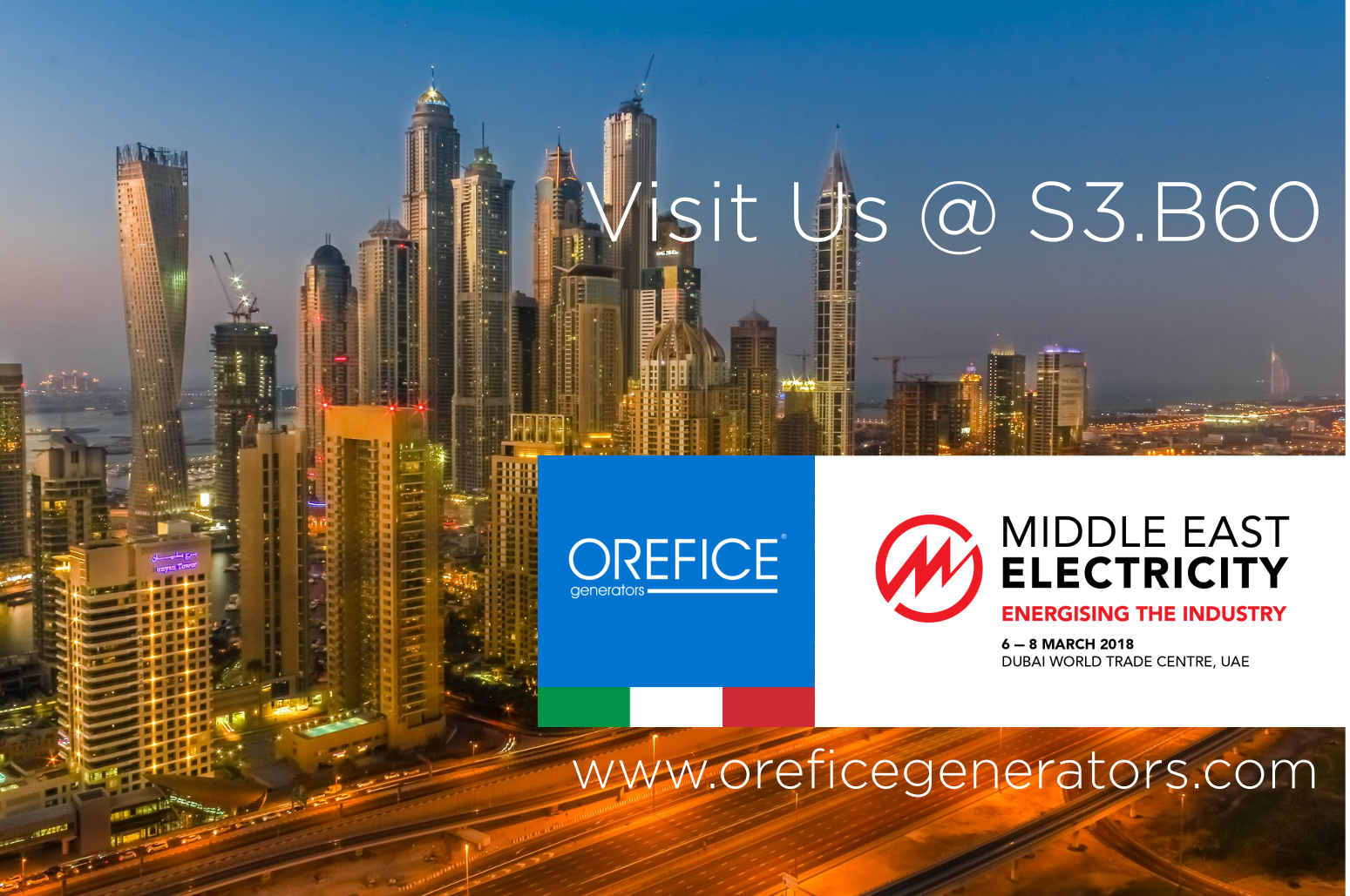 Middle East Electricity 2018 - World Trade Center DUBAI - UAE6th to 8th March 2018STAND S3.B60