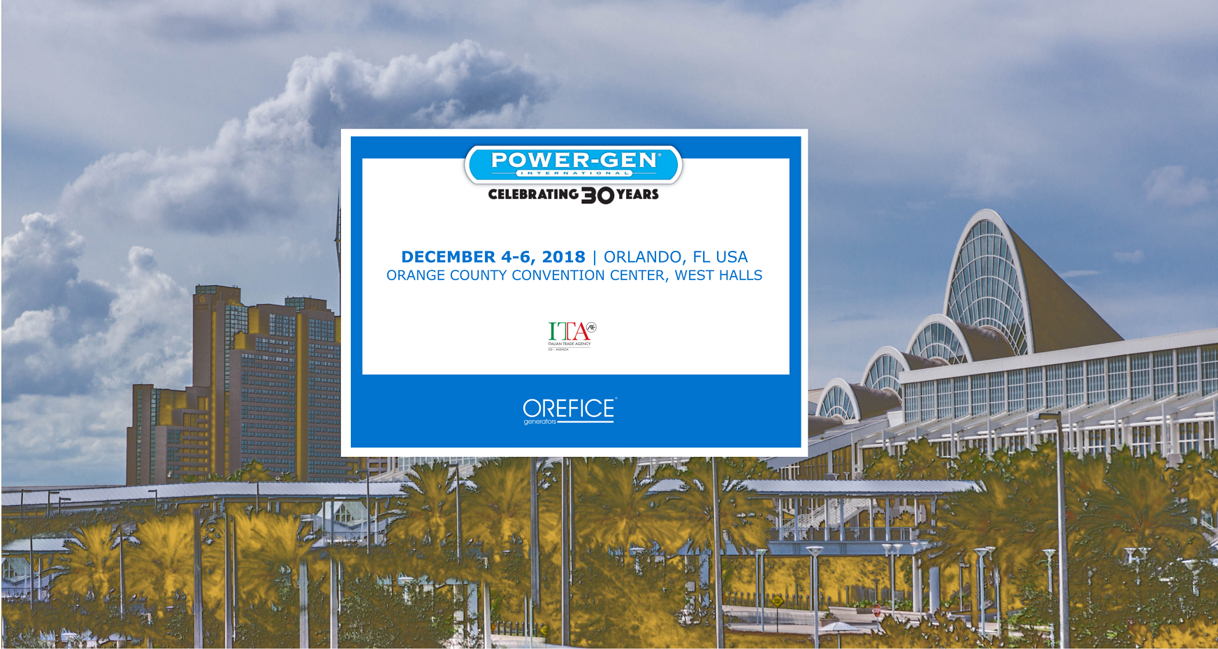 PowerGen 2018 - Orange County Convention Center ORLANDO - USA4th to 6th December 2018STAND 2071