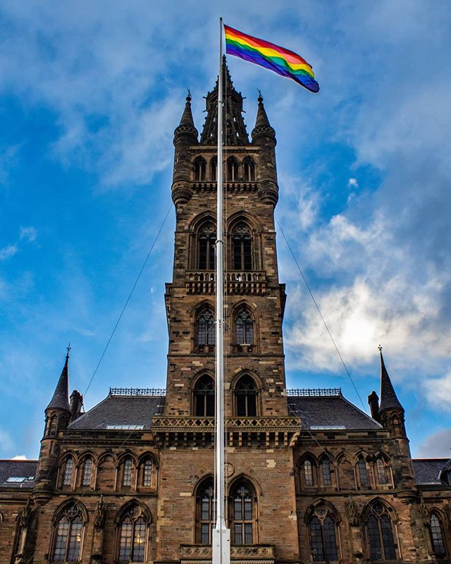 🏳️‍🌈🏳️‍🌈🏳️‍🌈🏳️‍🌈🏳️‍🌈🏳️‍🌈 Did anyone get a pic of our flag? Send us your snaps! ❤🧡💛💚💙💜 #LGBTHistoryMonth #LGBTHM19 #LGBT #TeamUofG #UniversityofGlasgow