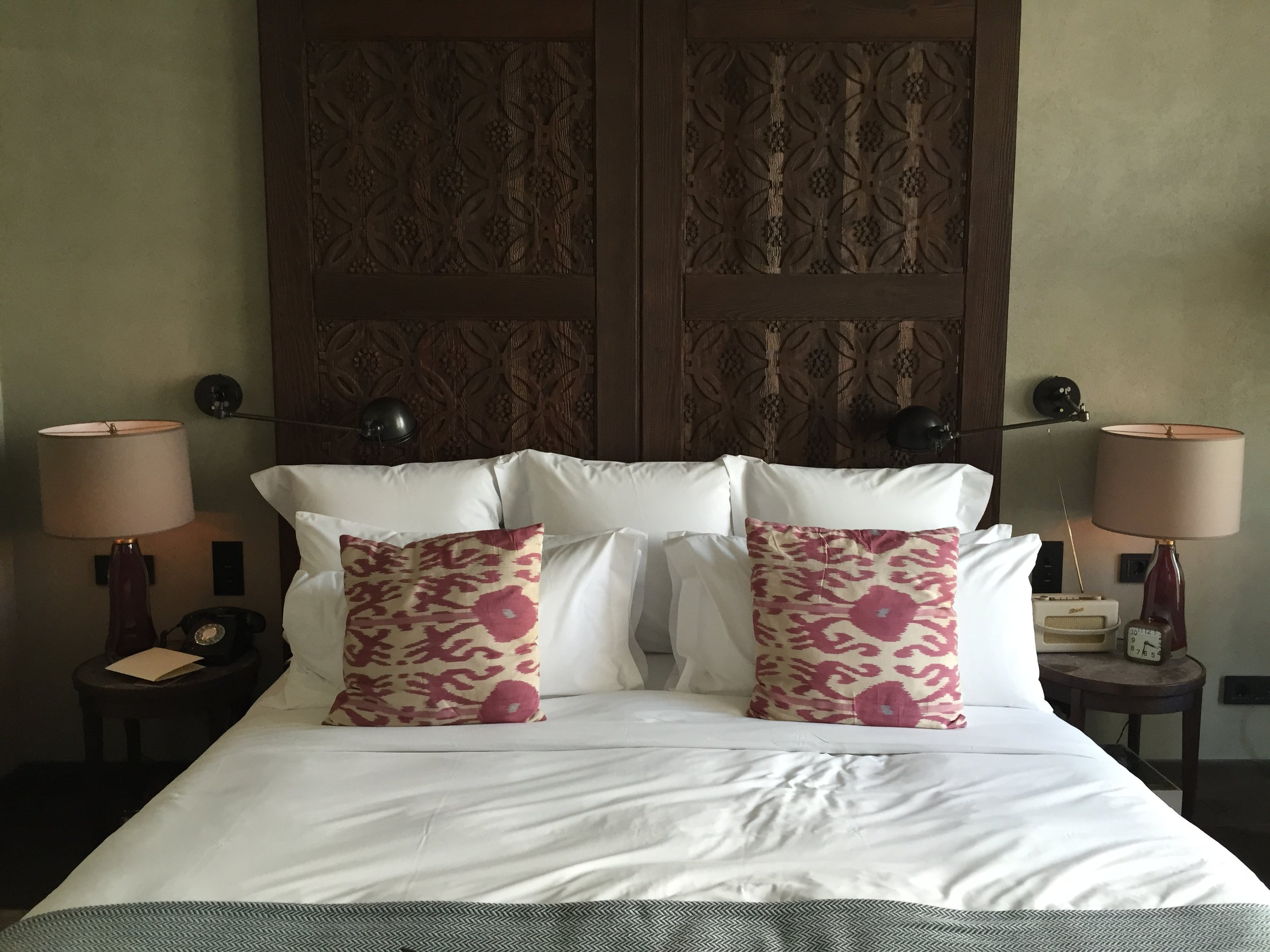 The gorgeous Soho House Istanbul...why have two pillows when you can have nine?