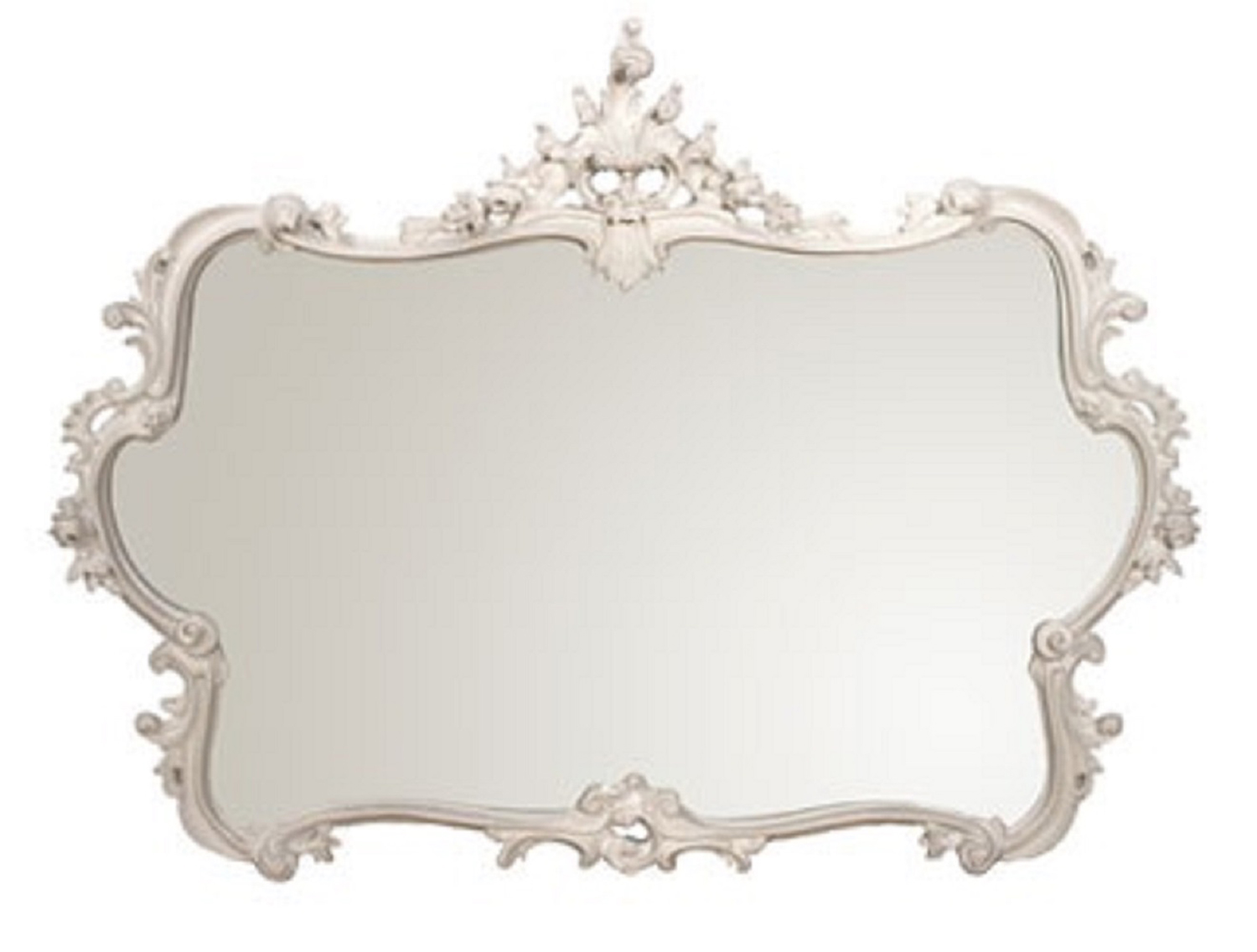 Miss Lala's White Looking Glass - cutout French wall mirror.jpg