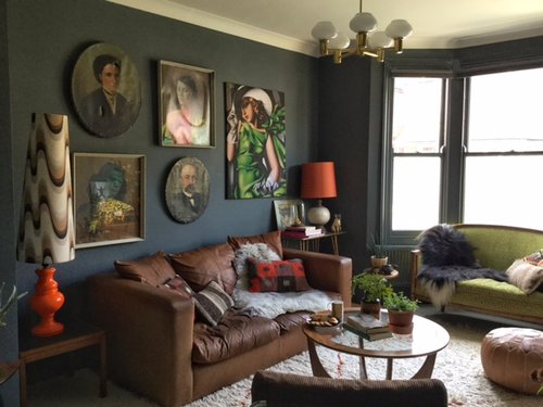 More of Emilie's living room...see how the colour has changed according to the light?