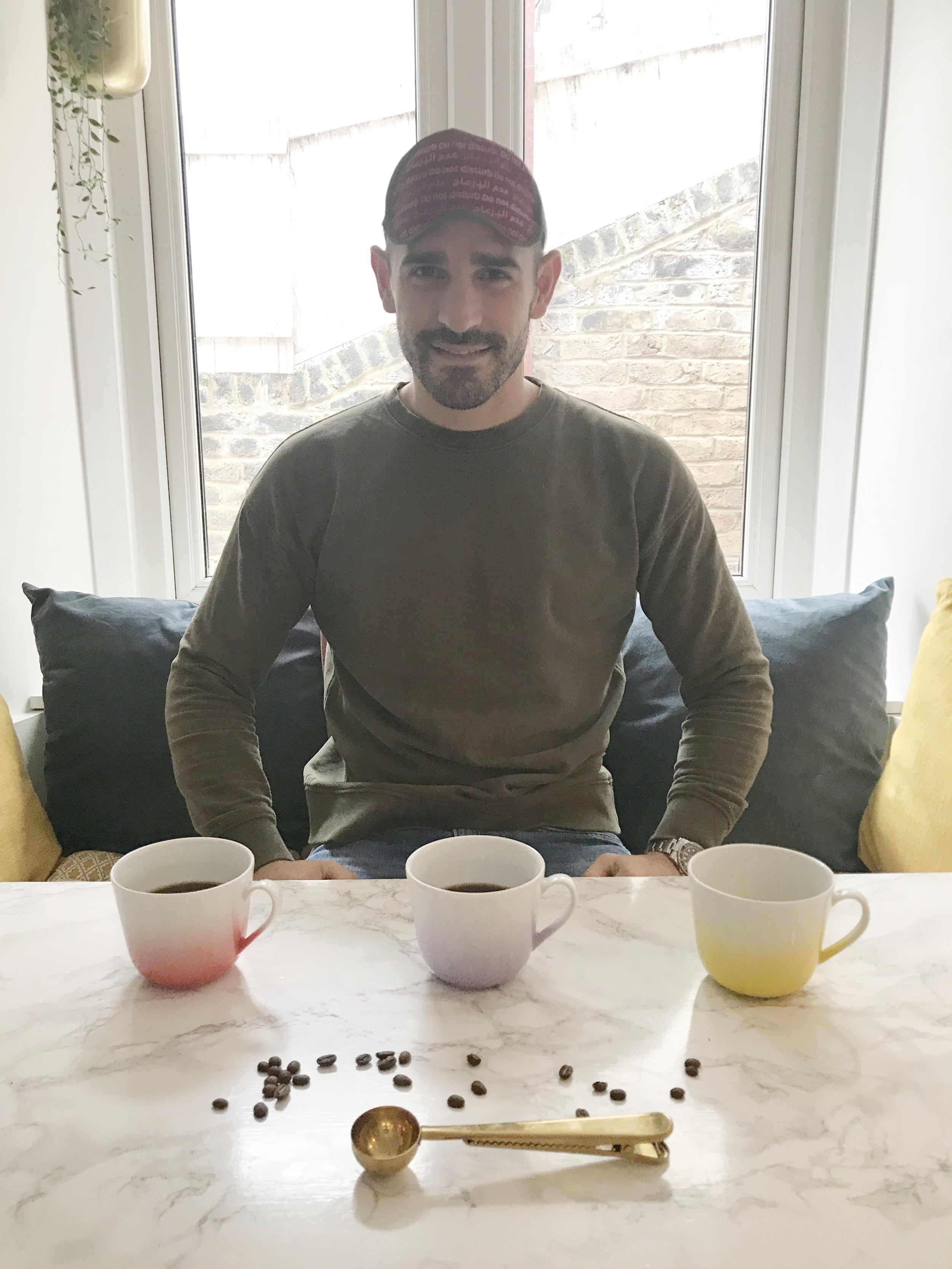 Costa,cafetiere and Jura E8 coffee