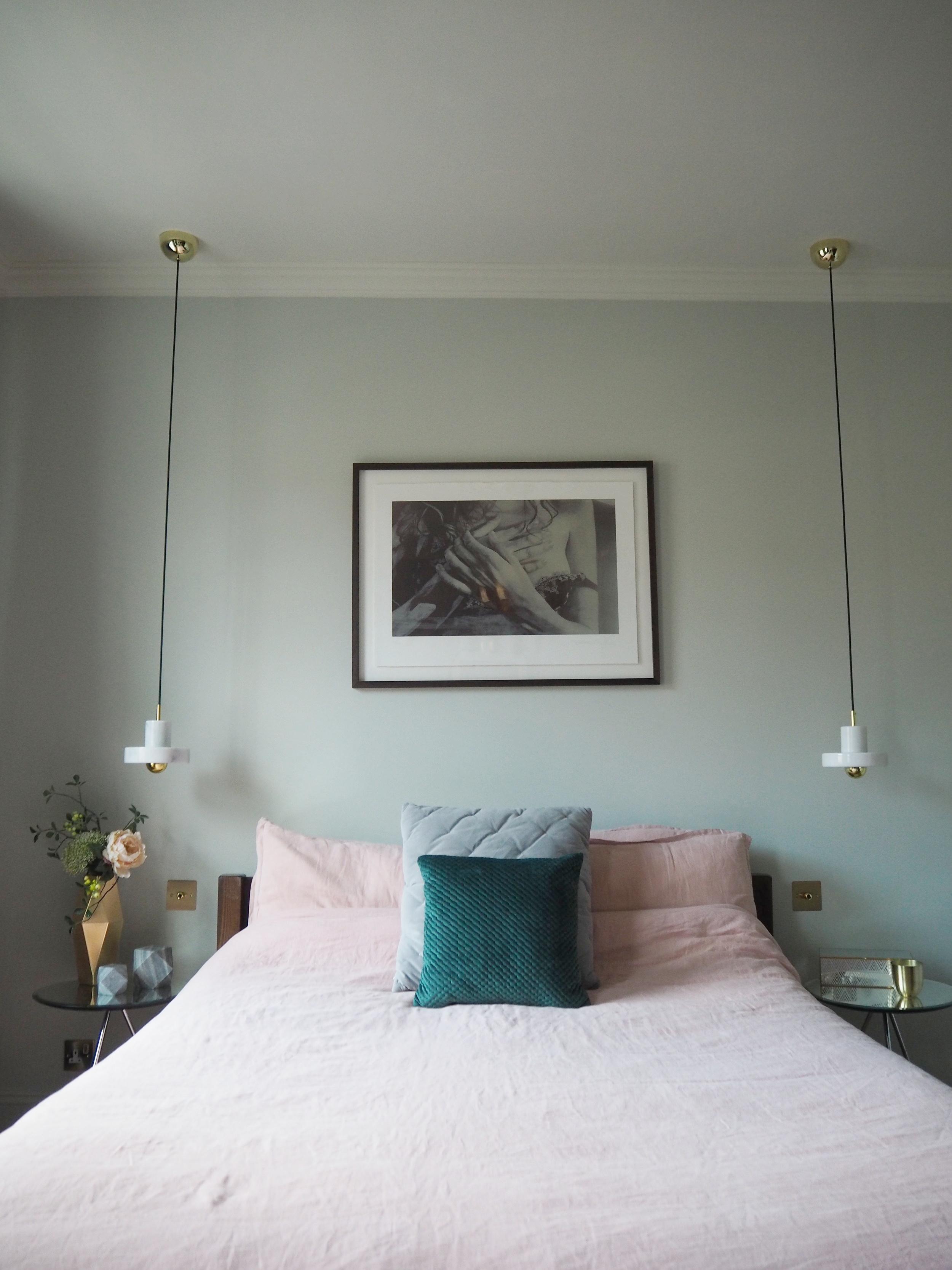 Green textured cushion, £12, Grey cushion, £14