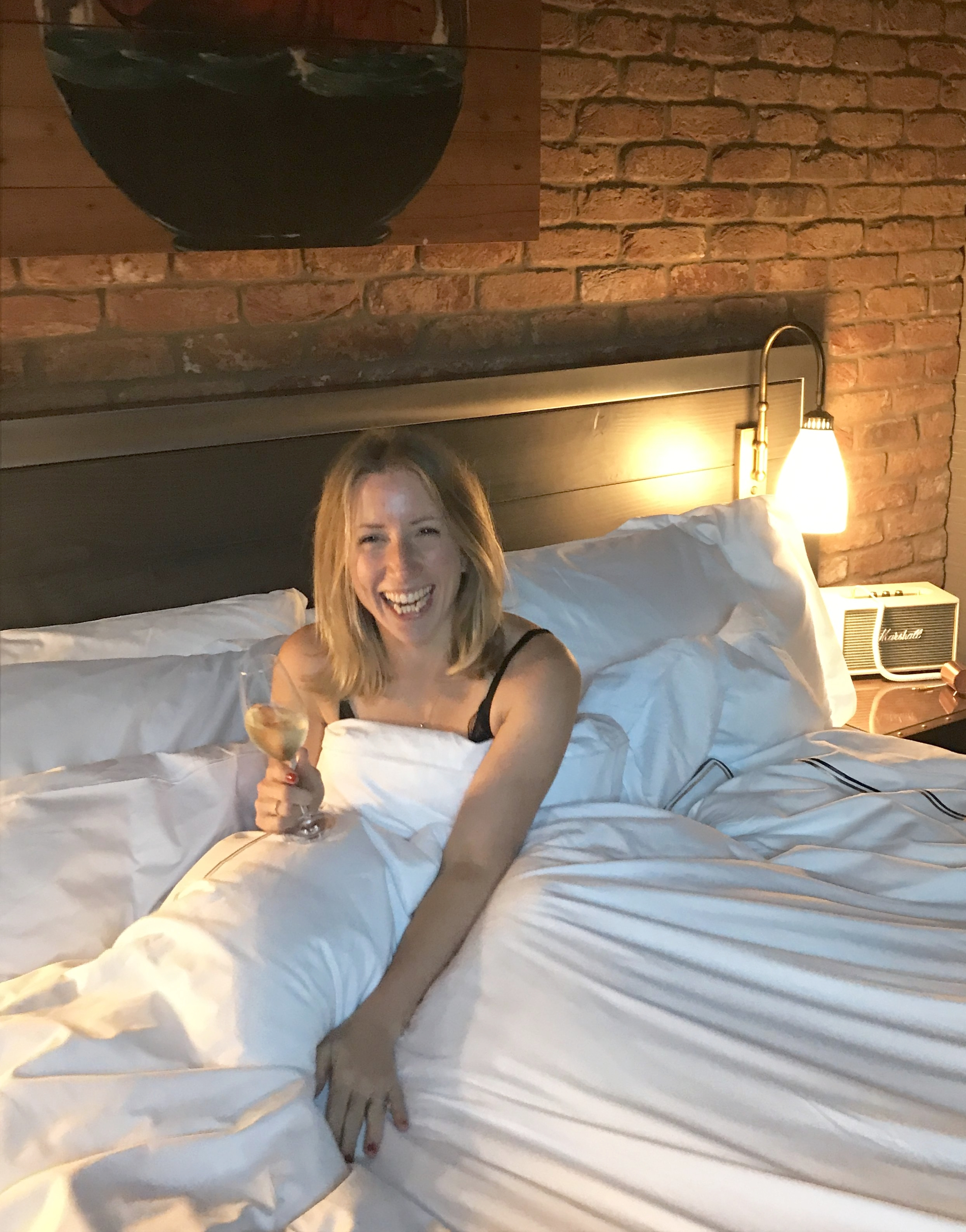 Staycations, midday snoozes and bubbles in bed make me happy!