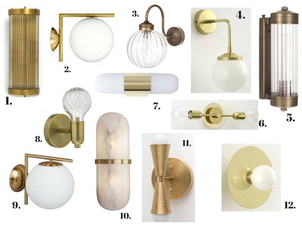 12 Brass Bathroom Wall Lights That, Wall Lights For Bathroom