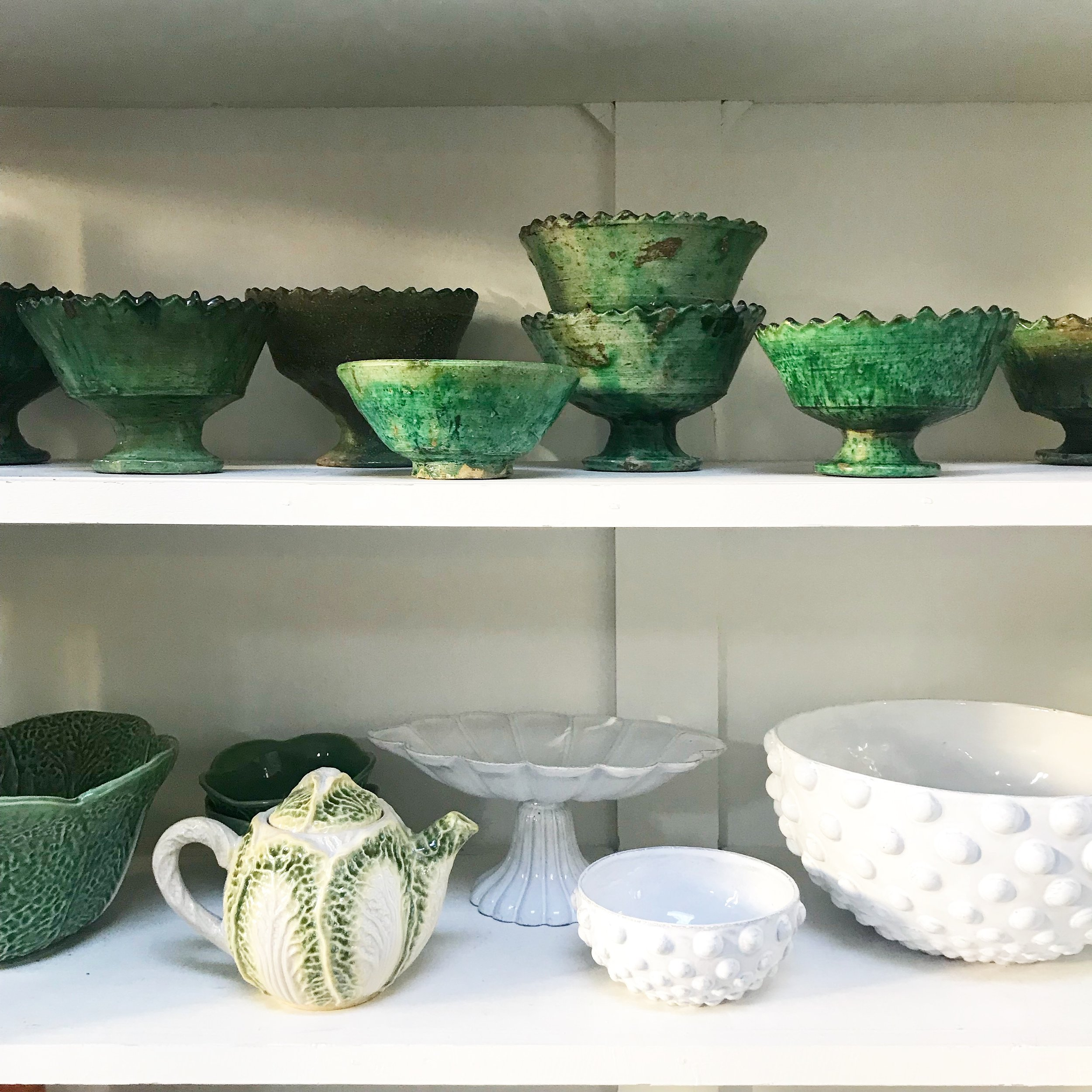 A small section of Lisa's ceramics collection
