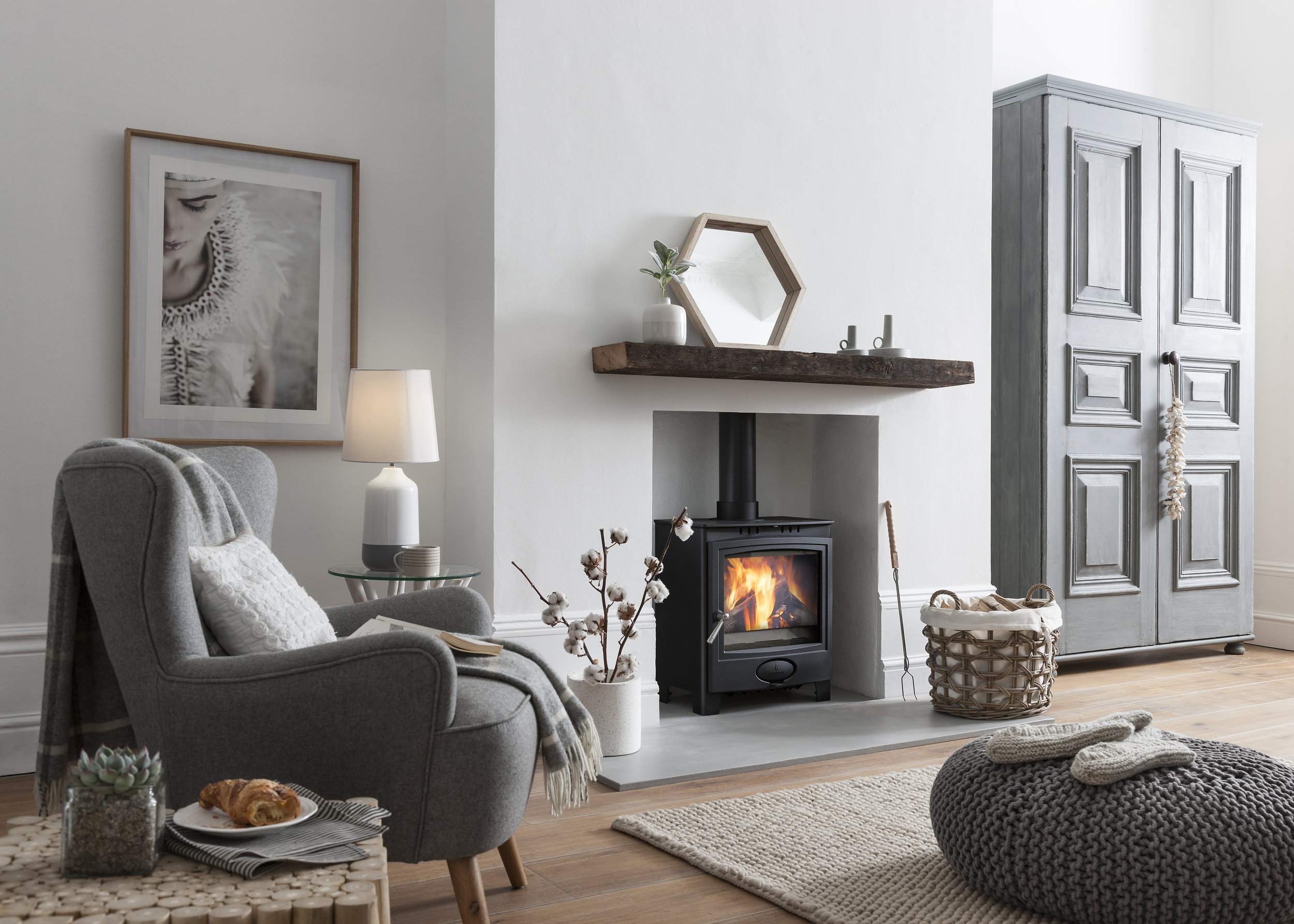 The  Ecoburn Plus 5 Widescreen stove