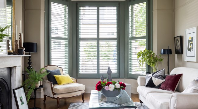 An example of colour matched shutters in a bay window…very nice!