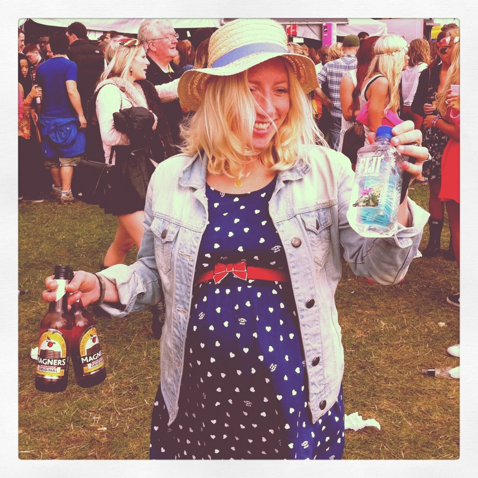 Remember Hipstamatic? Here I am 9 mths pregnant at Radio 1's Big Weekender in Hackney where we saw Jay-Z. The ciders are not for me obviously (I hate cider!) but I got served wayyyy quicker than everyone else funnily enough