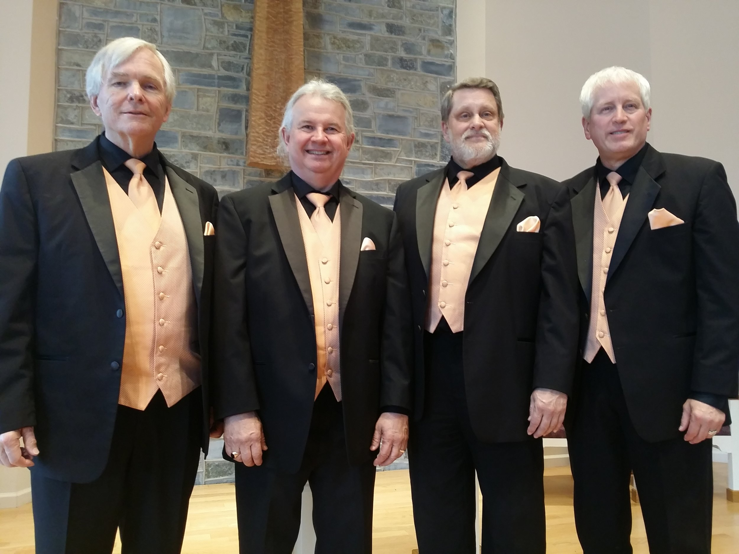 "Vintage Mix Quartet - Vintage Mix Quartet is a ""senior"" quartet in the Mid-Atlantic Division of the Barbershop Harmony Society.  We have been an organized and registered quartet since the summer of 2014.  We sing a mixture of old and new songs arranged in the ""Barbershop"" style of music.  The Barbershop style is generally four-part harmony a cappella singing.  We are honored to be a part of the Shenandoah Valley Sing Off for the first time!"