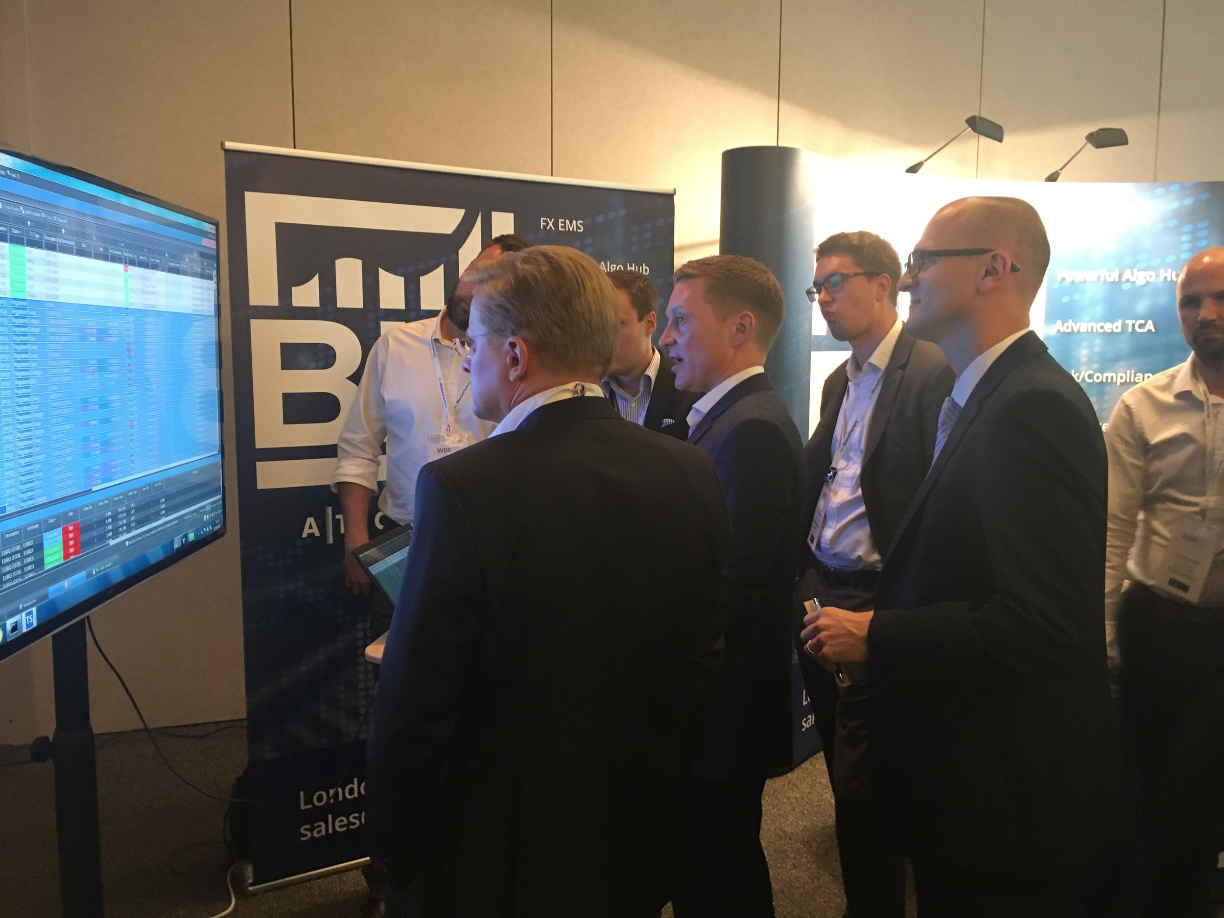 BidFX stand was jam packed at Tradetech FX Barcelona 2017