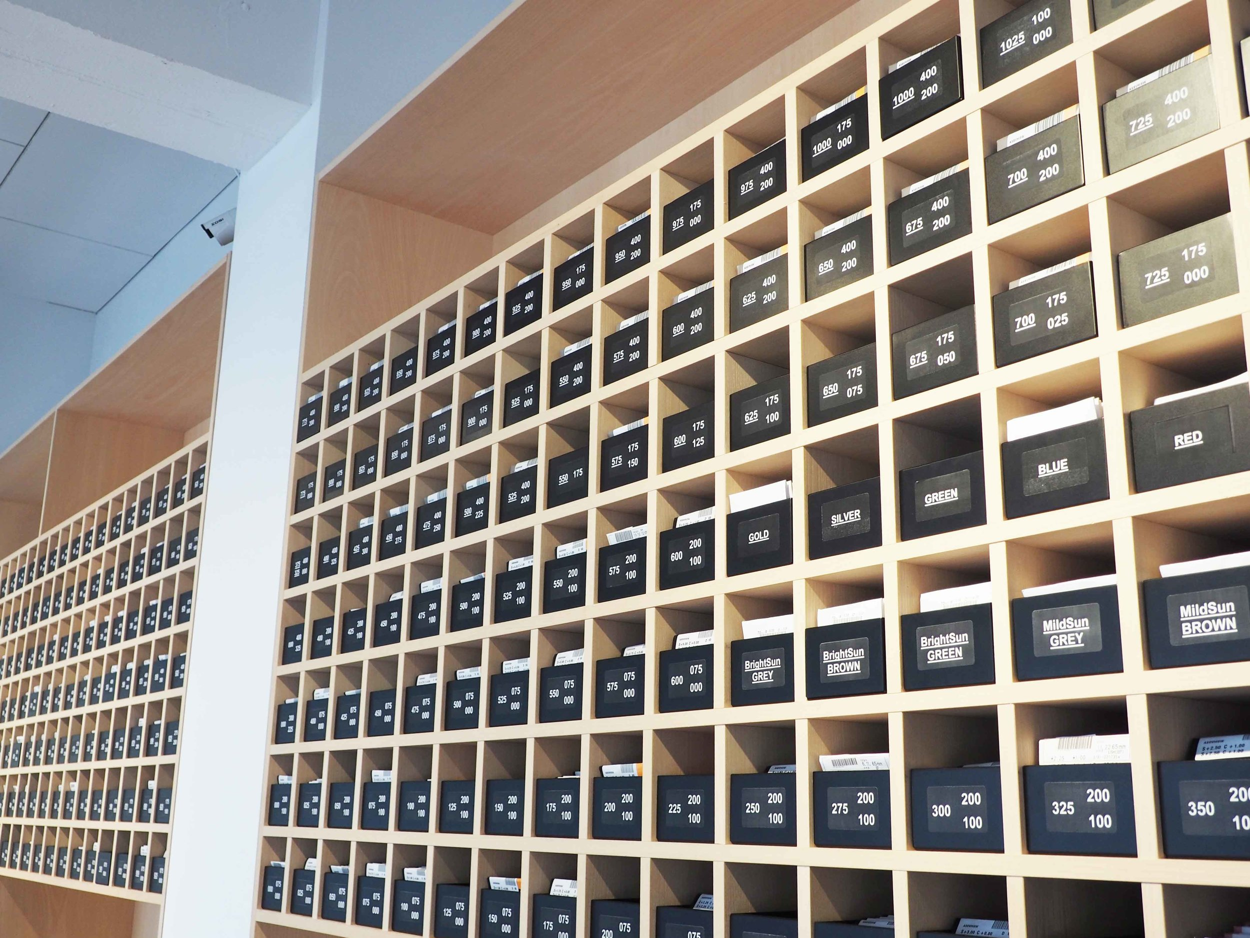 YUN's lens storage in the store