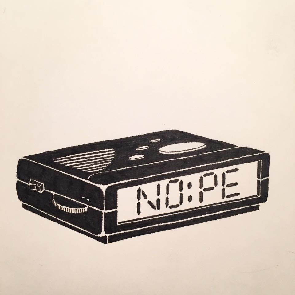 Original drawing of alarm clock. ©Rylsee