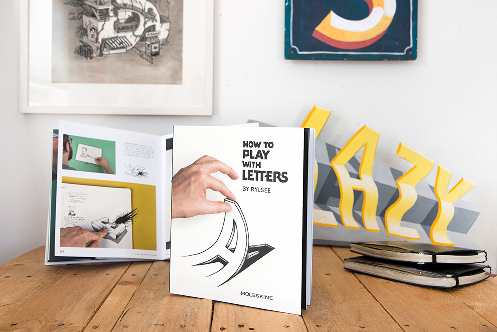 Rylsee's first book, released with Moleskine Publishing. ©Rylsee
