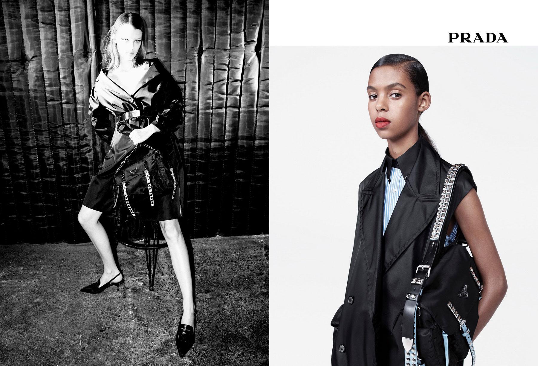 PRADA Womenswear SS18 | Black-Nylon Campaign