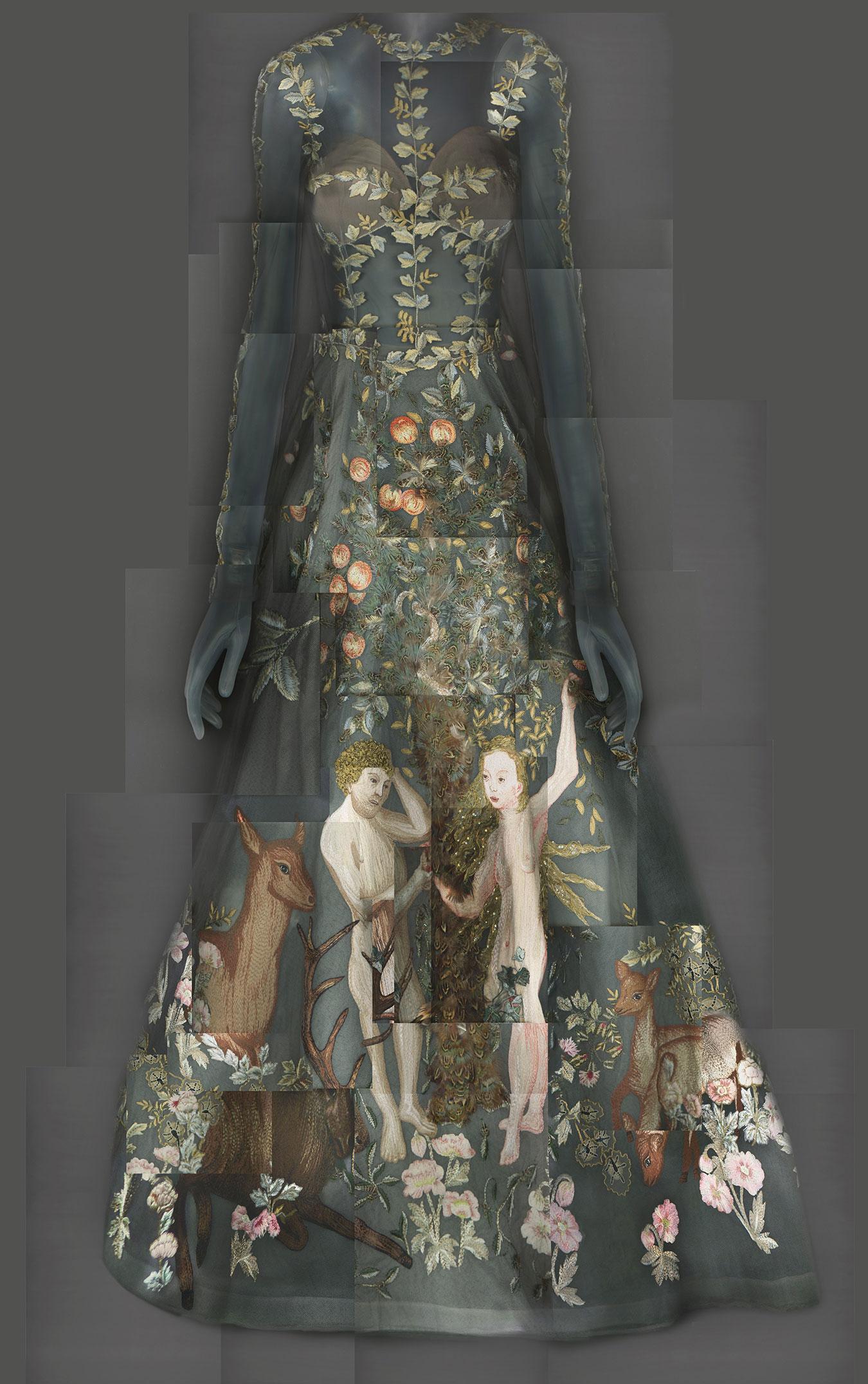 Evening Dress by Maria Grazia Chiuri and Pierpaolo Piccioli for  VALENTINO  | SS 2014 | Haute Couture | Courtesy of Valentino S.p.A. | Image courtesy of The Metropolitan Museum of Art, Digital Composite Scan by Katerina Jebb