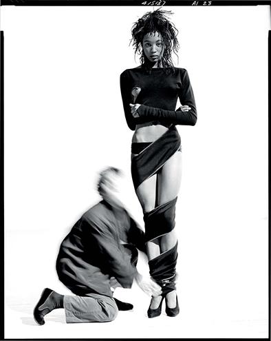 Picture by ARTHUR ELGORT | Azzedine Alaïa and Naomi Campbell, New York Cirty, 1987 ©Arthur Elgort