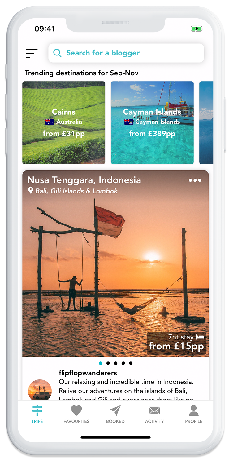 Browse through trips from top travel bloggers on the GoHype mobile app