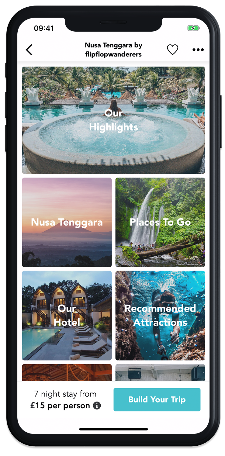 Browse through incredible trips on the GoHype mobile app