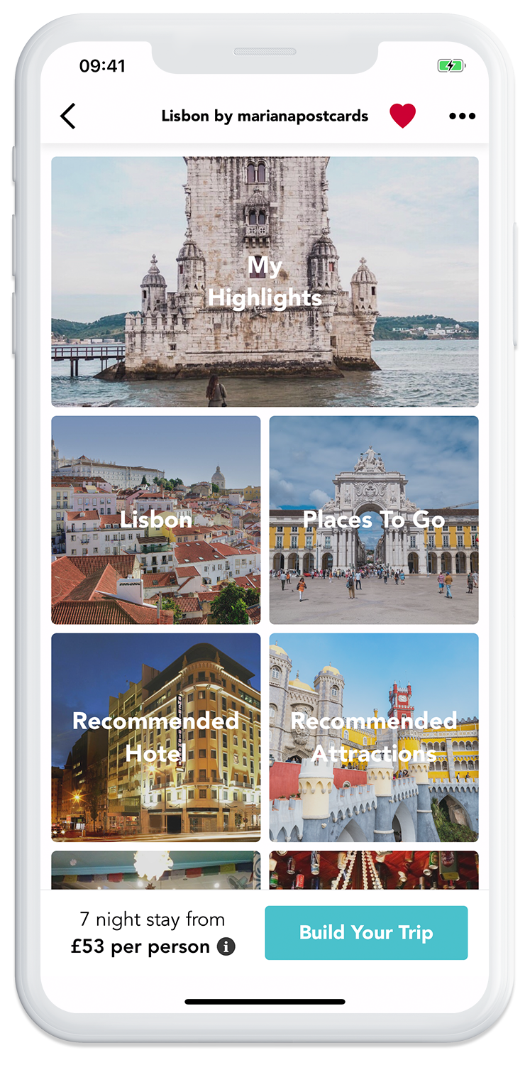 Discover beautiful trips to Lisbon on the GoHype mobile app