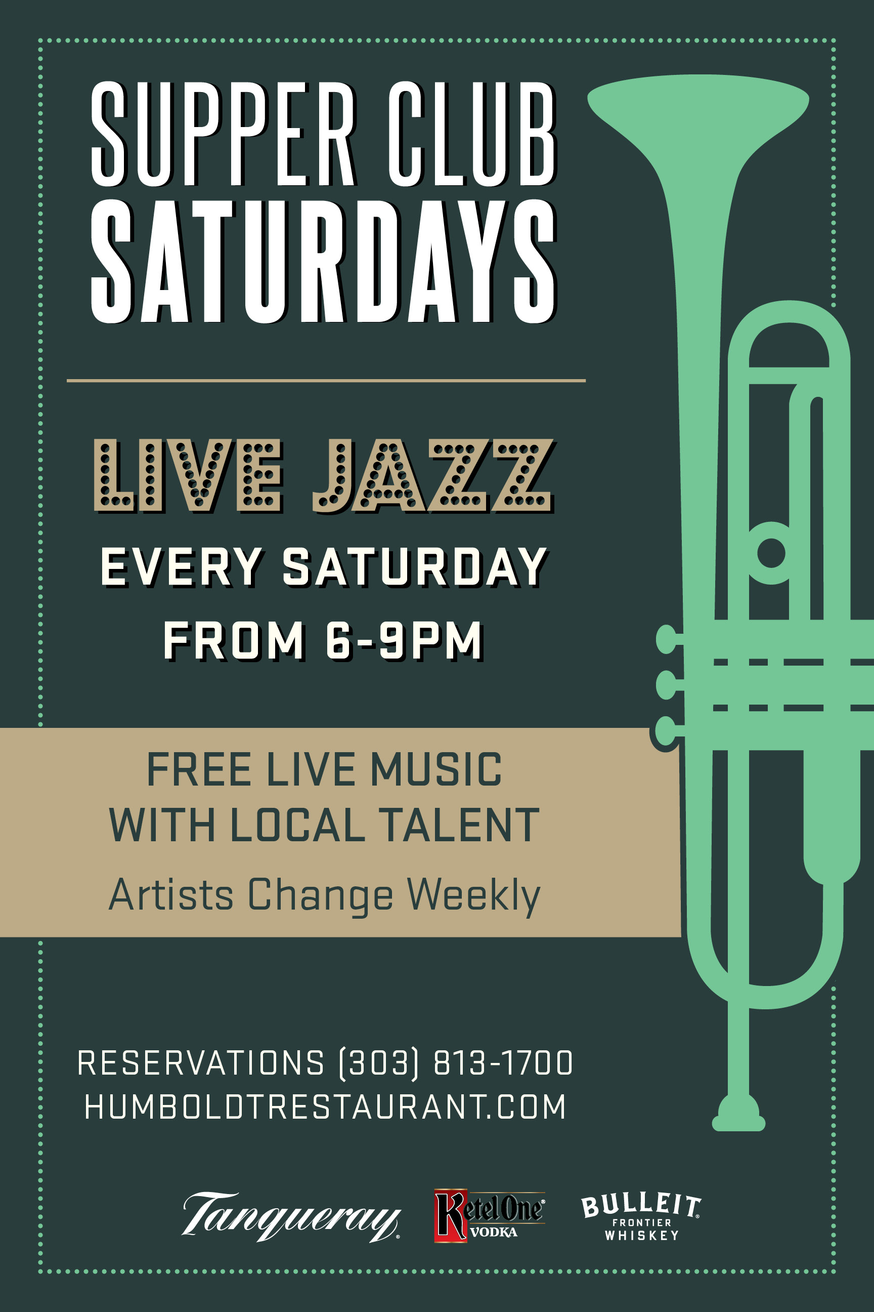 Supper Club Saturdays - Join us every Saturday for live music. We'd love to see you for dinner, for drinks or just for a good time! No Cover!