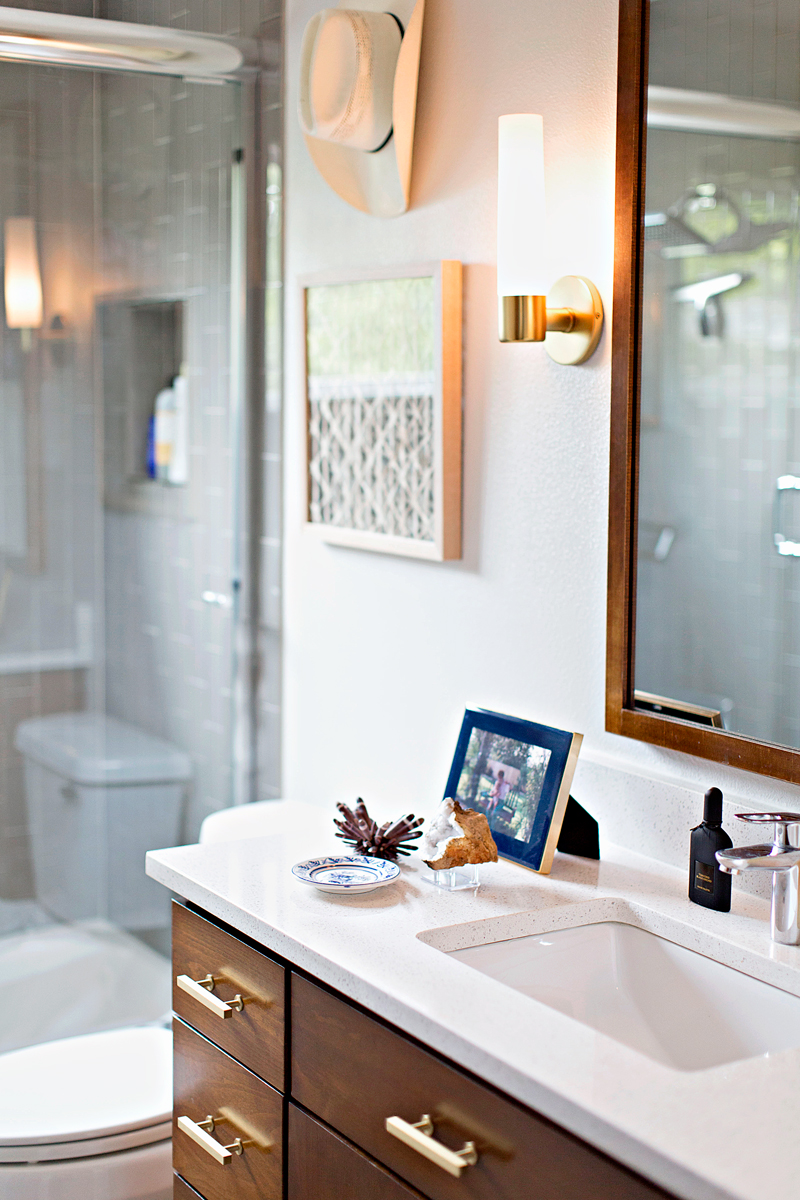 Bathrooms are one of my favorite spaces to design. They are often times forgotten or looked over, so I love to dress them up and make them feel really special.