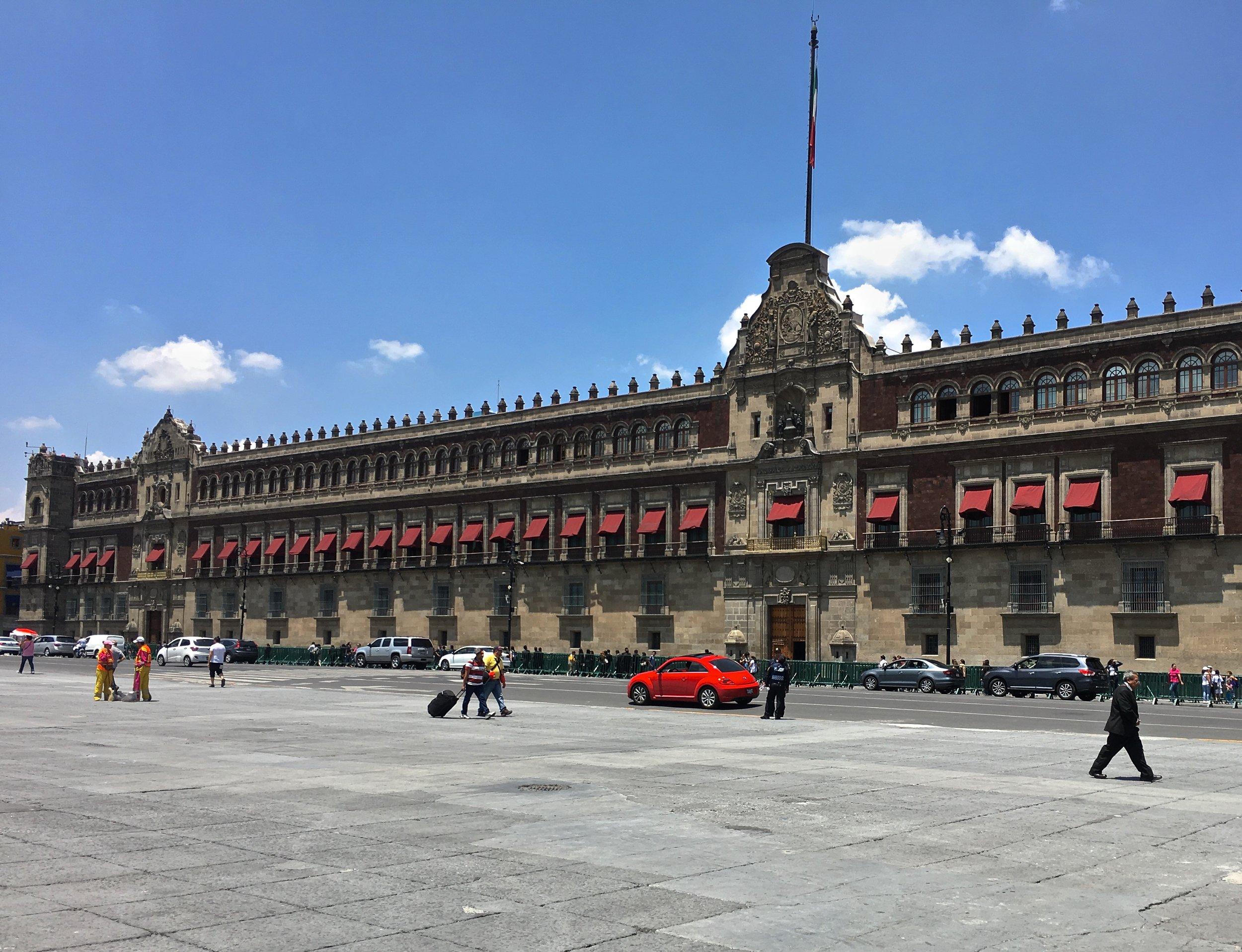 Facade of the Mexico National Palace