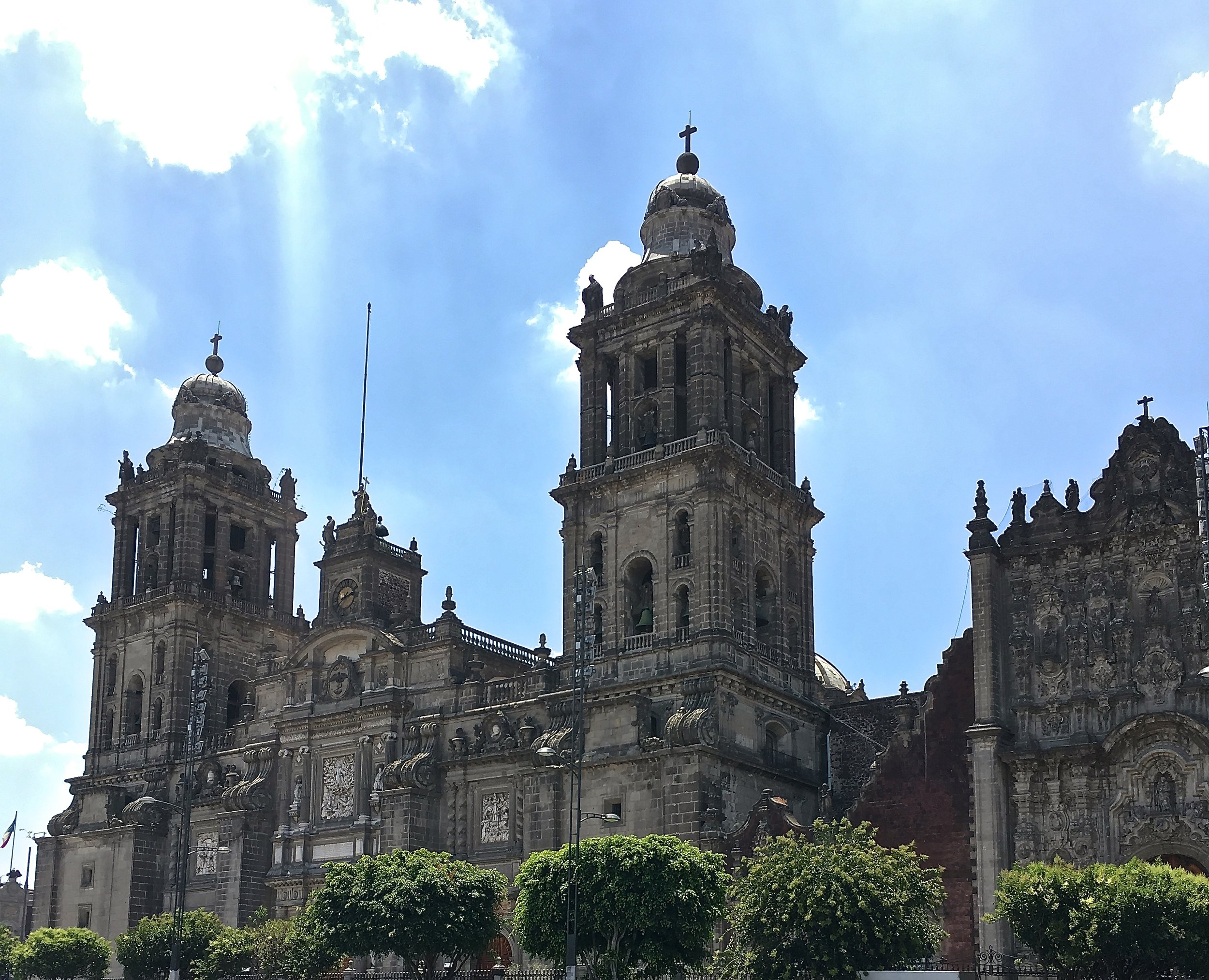 The Mexico City Metropolitan Cathedral with it's beautiful relief carvings.
