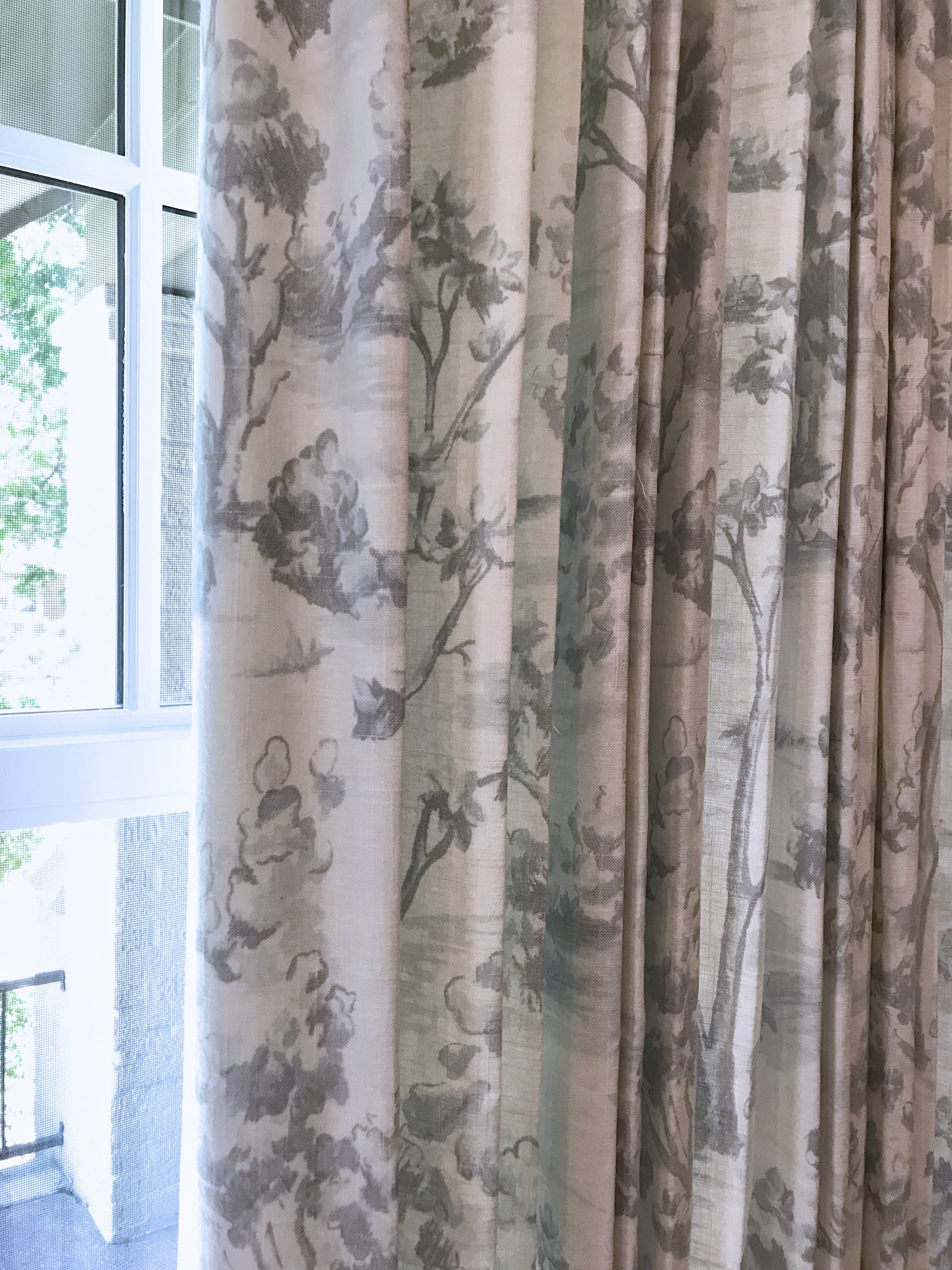 Don't skip the drapes. Everyone wants to forgo custom window treatments because of the expense, but they are SO worth it.
