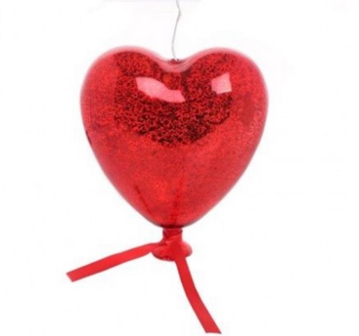 IN STORE ONLY: Large glass battery powered LED light up heart £6.50